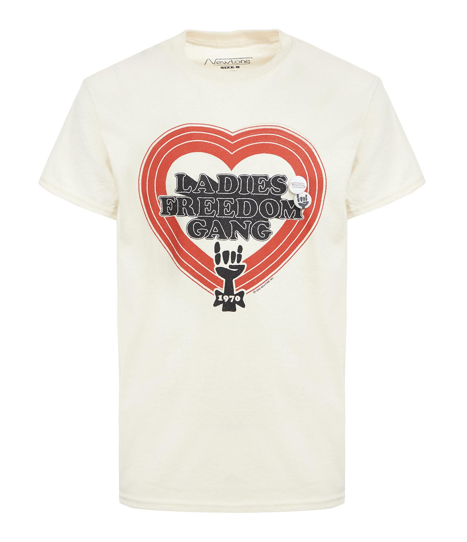 NEWTONE - Tee-shirt Trucker Freedom Coton Naturel