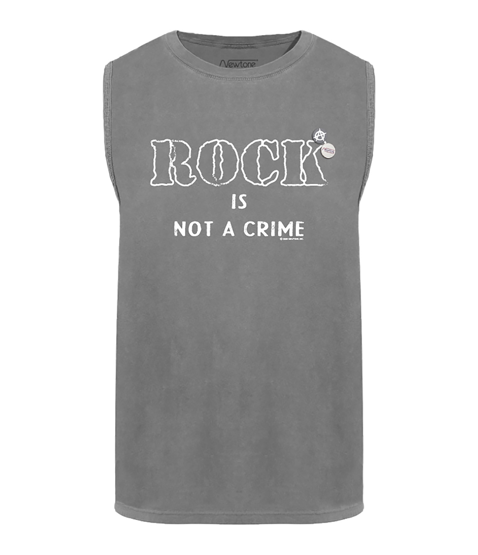 NEWTONE - Tee-shirt Biker Crime Coton Gris