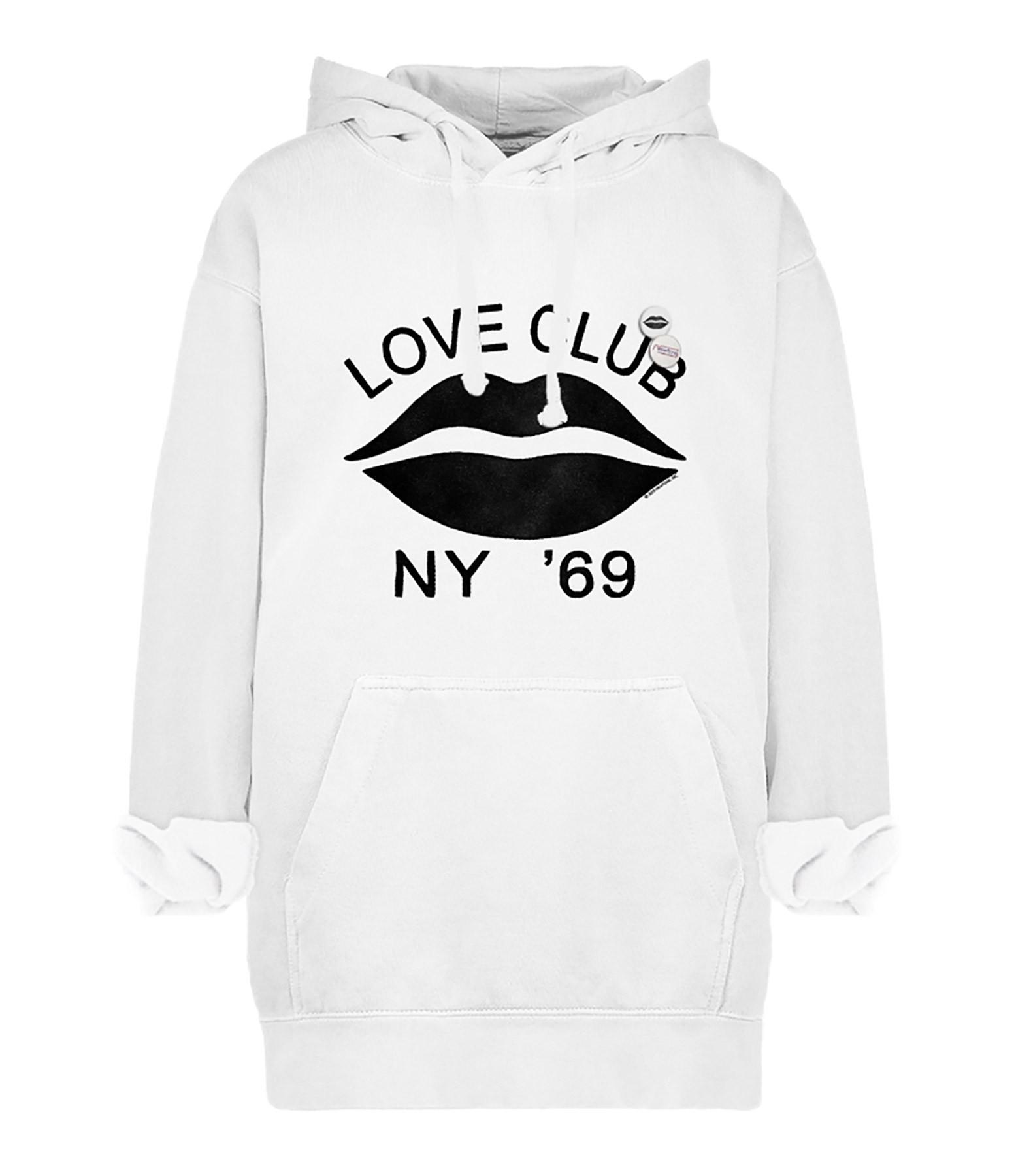 NEWTONE - Sweatshirt Hoodie Love Club Coton Pepper