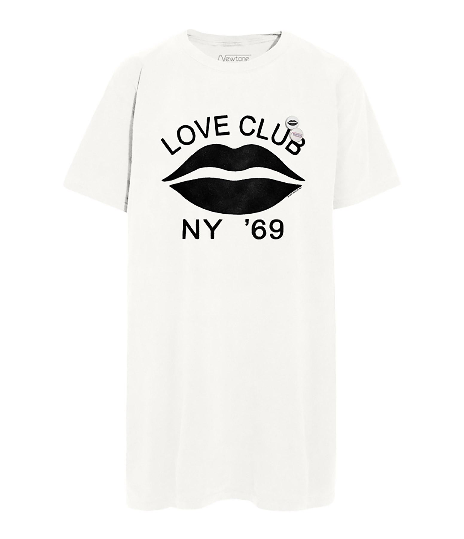 NEWTONE - Robe Janis Love Club Coton Blanc