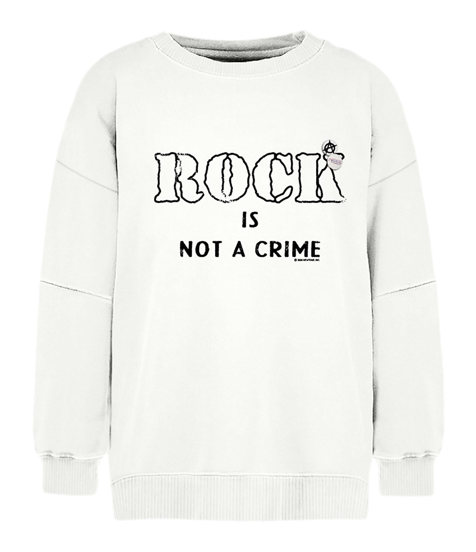 NEWTONE - Sweatshirt Roller Crime Coton Écru