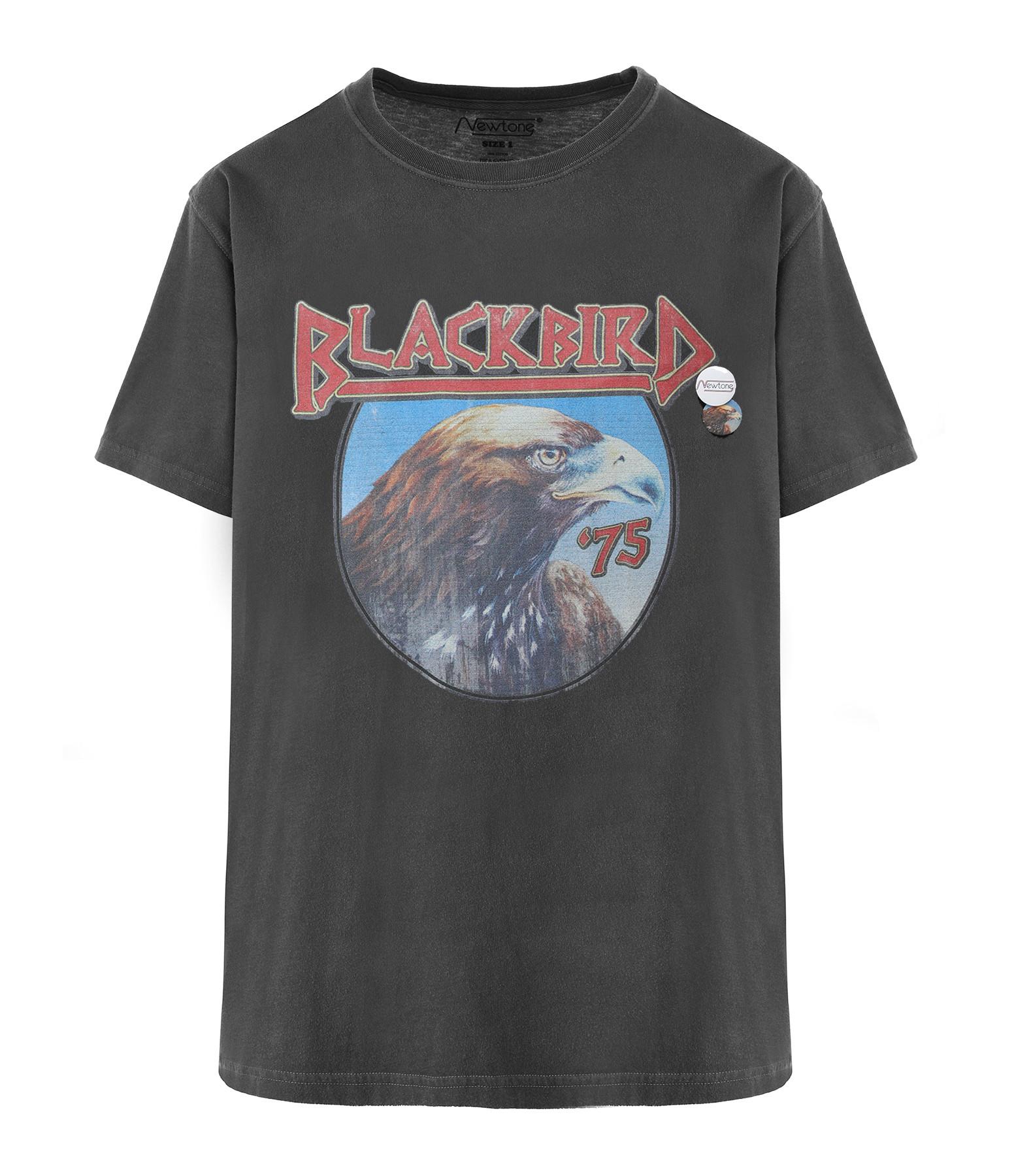 NEWTONE - Tee-shirt Blackbird Coton Pepper