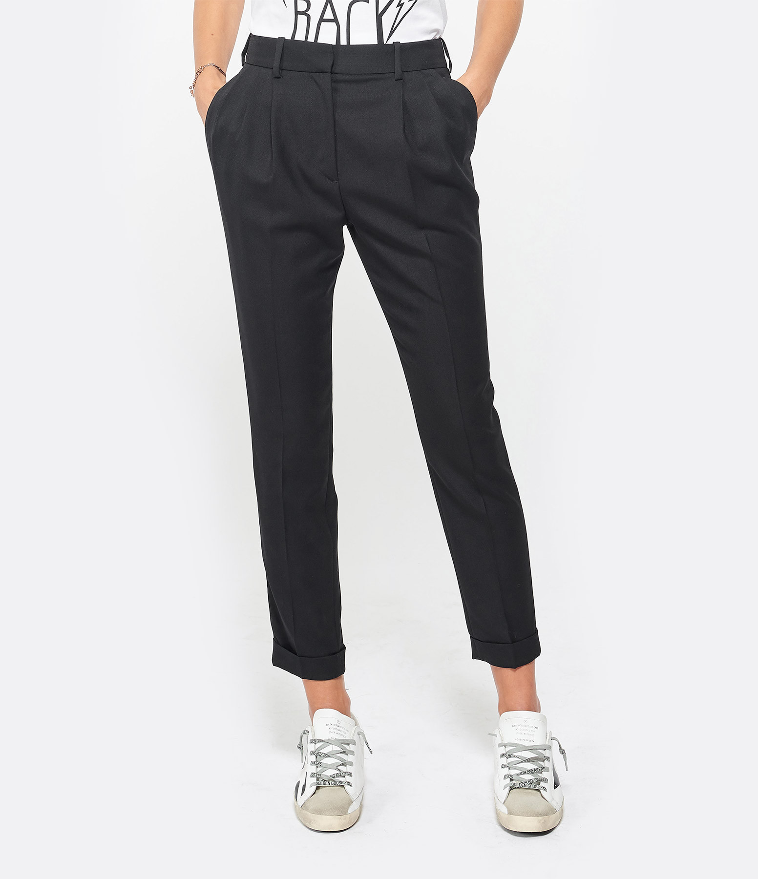 NILI LOTAN - Pantalon Montana Noir
