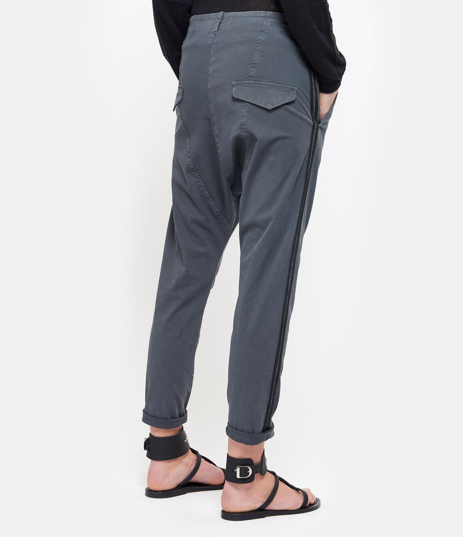 NILI LOTAN - Pantalon Paris Coton Charbon