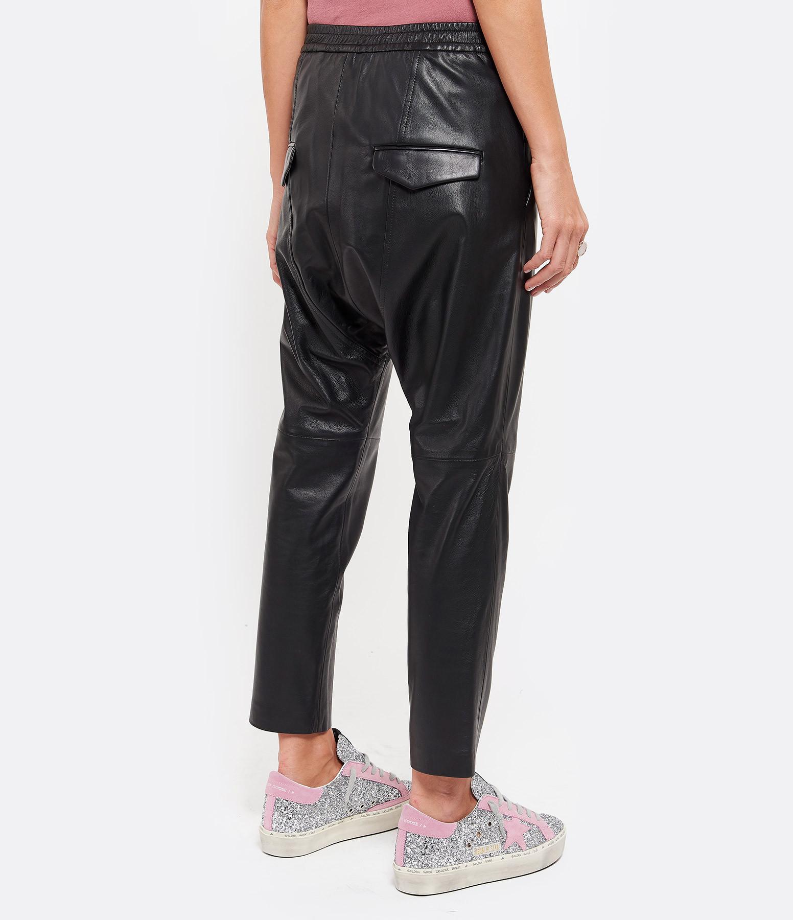 NILI LOTAN - Pantalon Monaco Cuir Noir