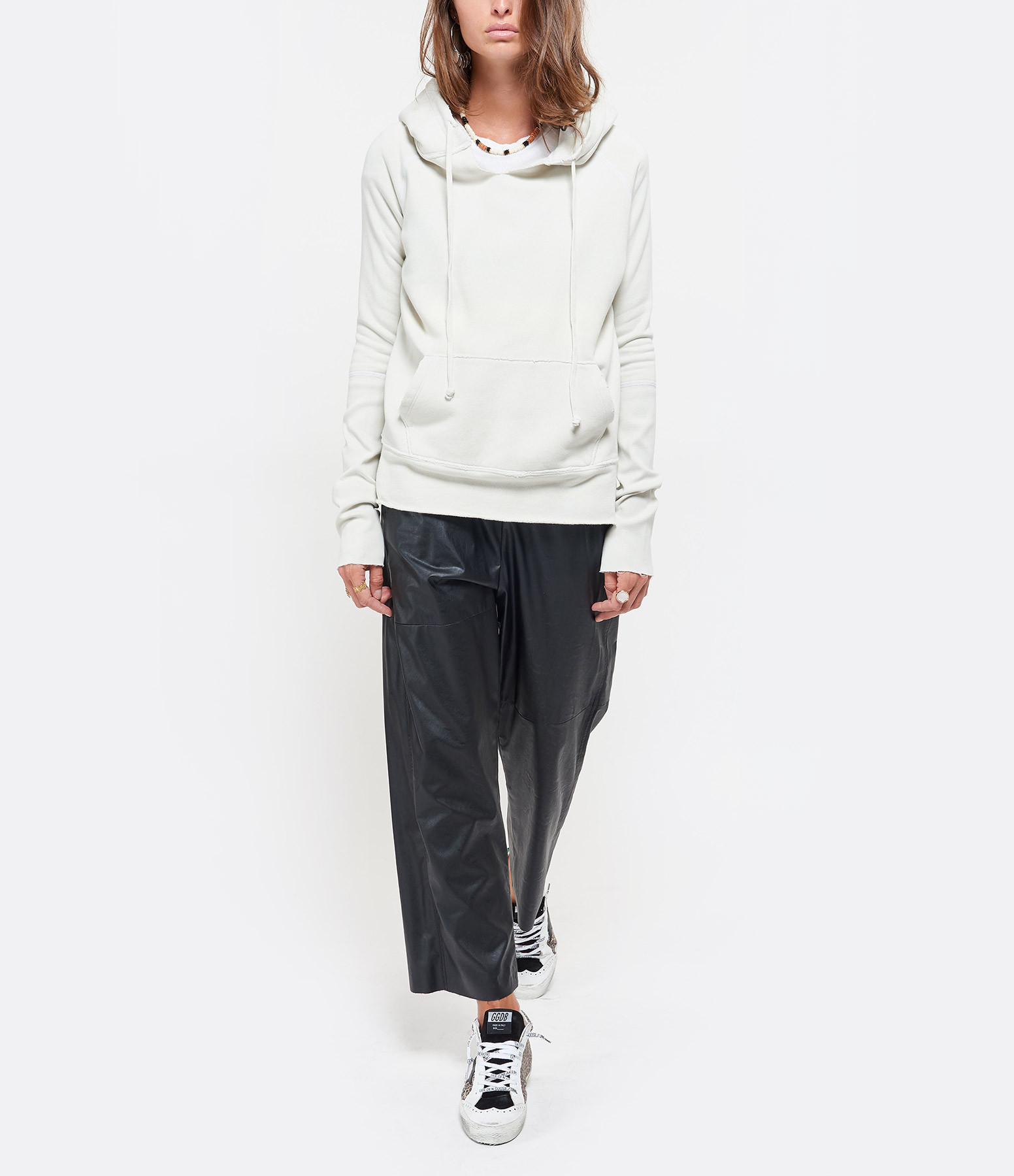 NILI LOTAN - Sweatshirt Janie Blanc Craie