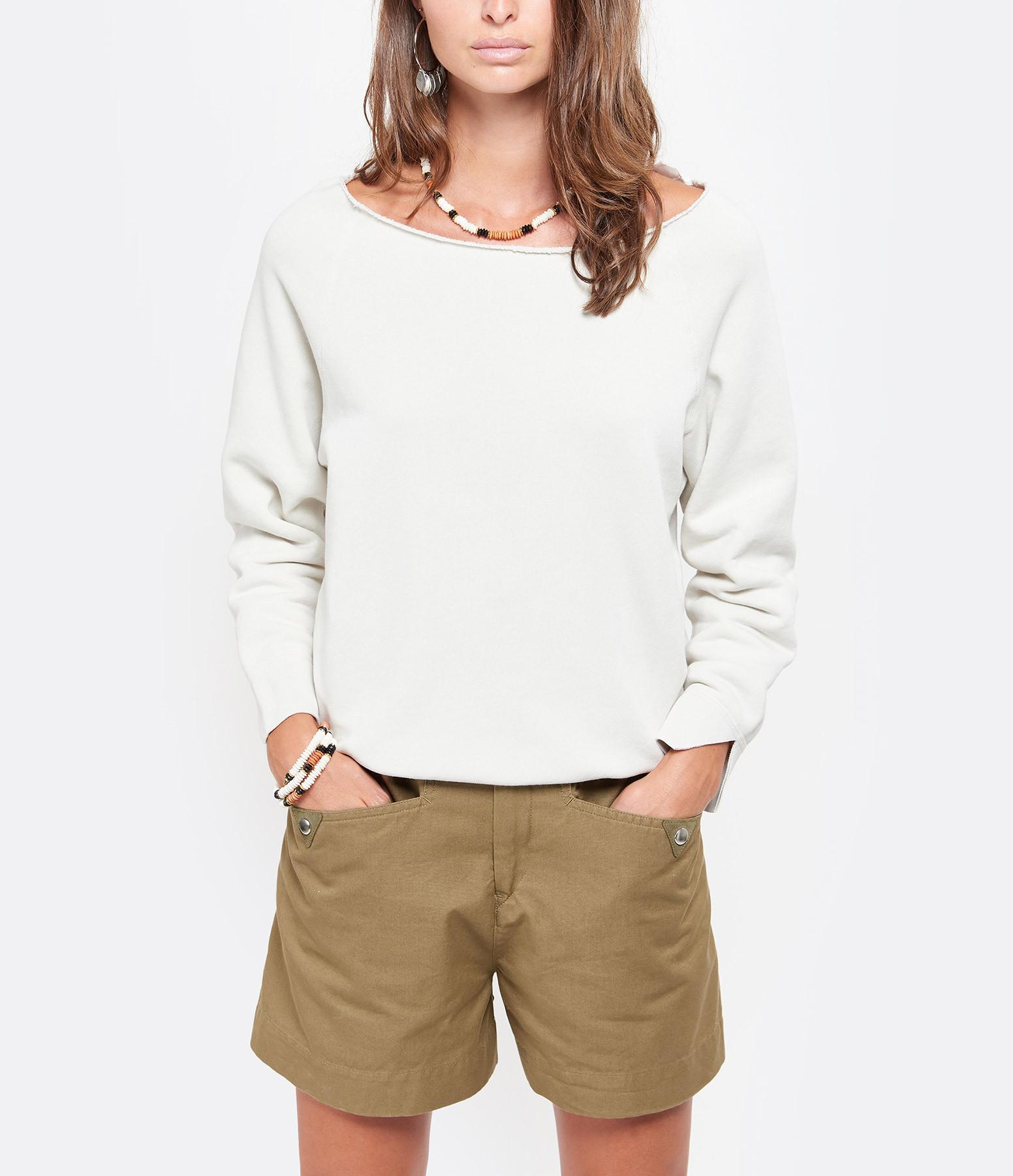 NILI LOTAN - Sweatshirt Luka Blanc Craie