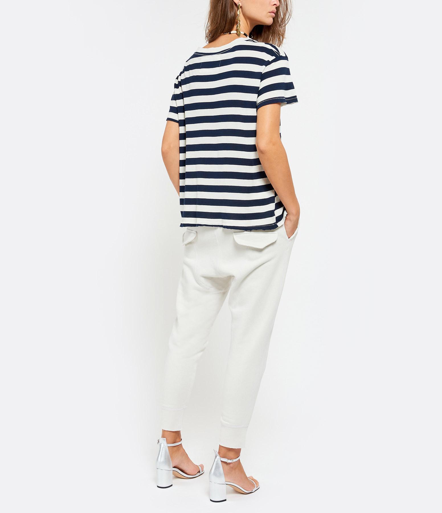 NILI LOTAN - Tee-shirt Brady Navy Foncé