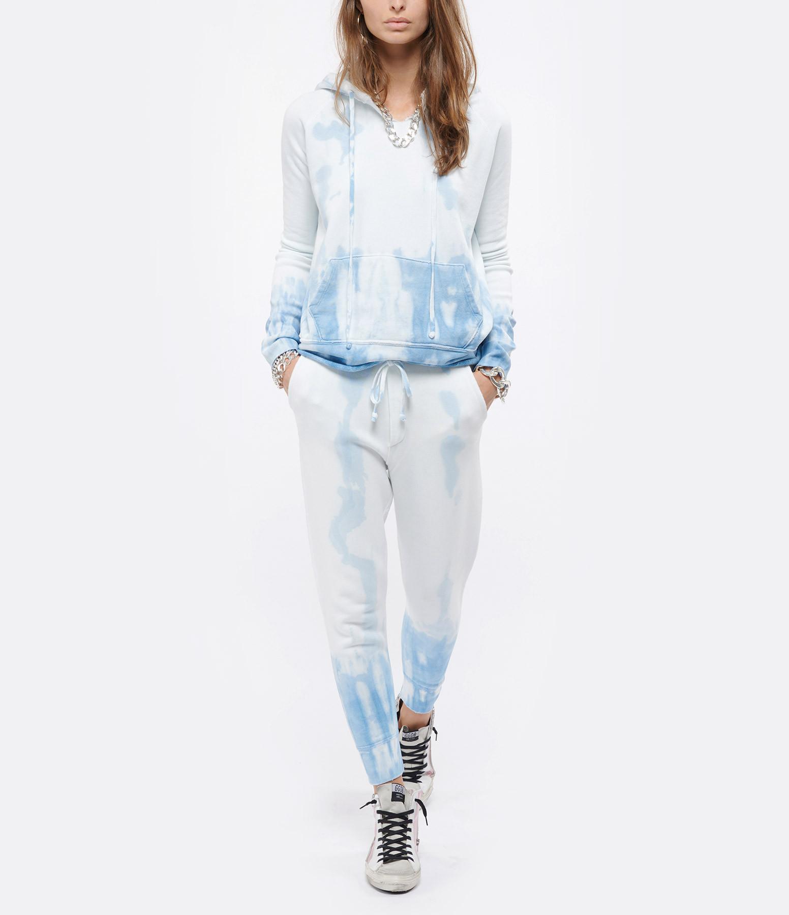 NILI LOTAN - Pantalon Nolan Coton Tie and Dye Bleu