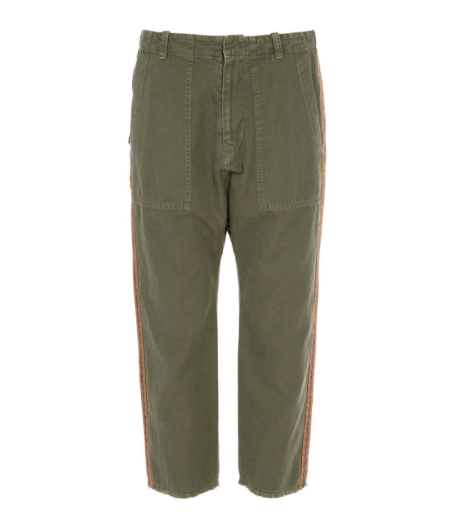 NILI LOTAN - Pantalon Luna Bandes Vert Orange