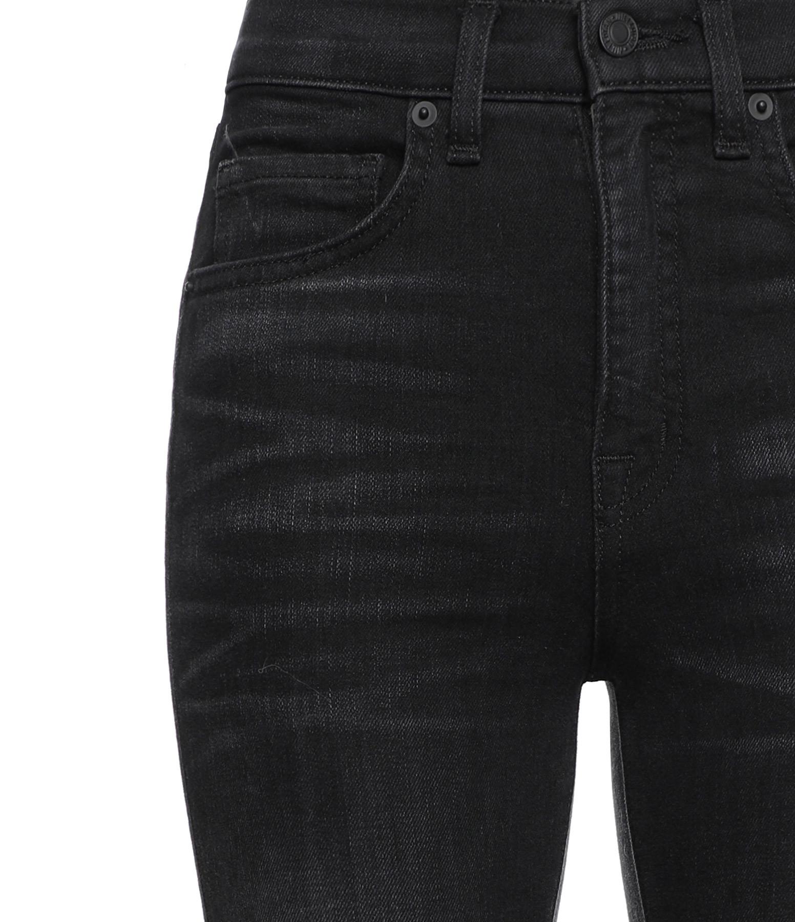 NILI LOTAN - Jean Taille Haute Coton Basalt Noir