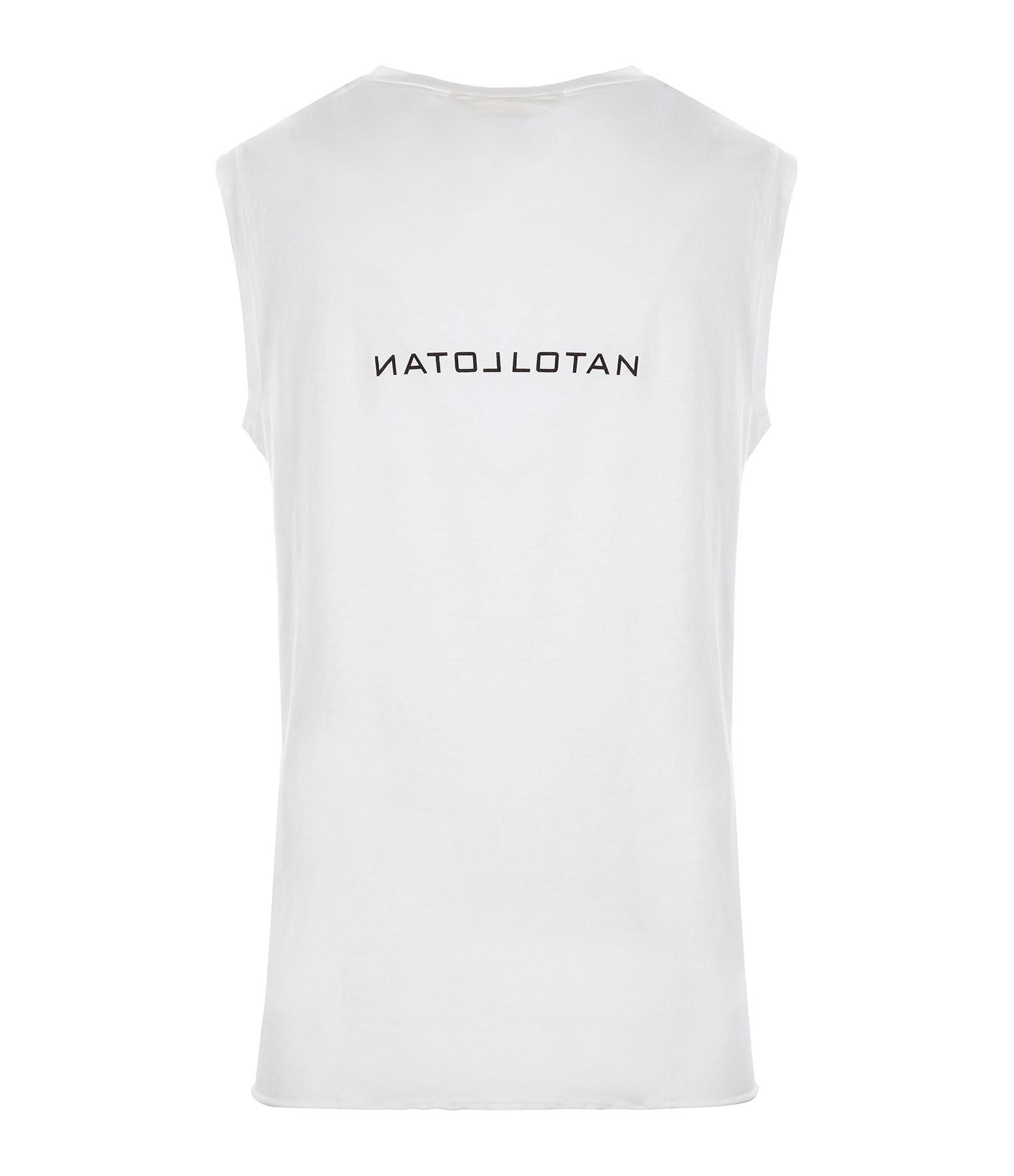 NILI LOTAN - Tee-shirt Love Hope Sex Coton Blanc