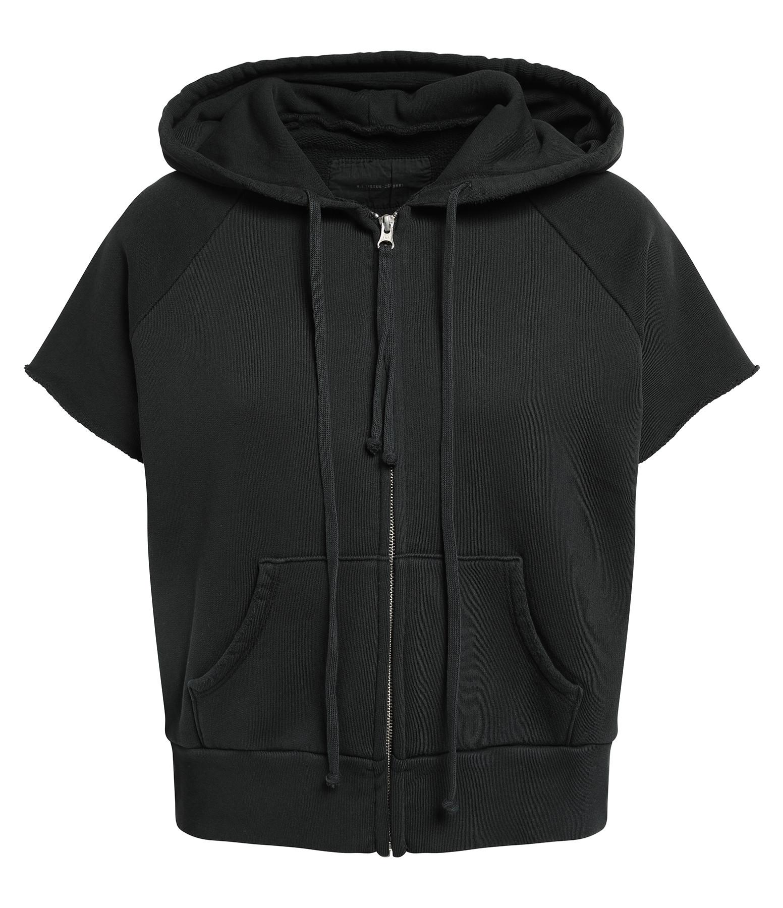 NILI LOTAN - Veste Percy Coton Noir Délavé