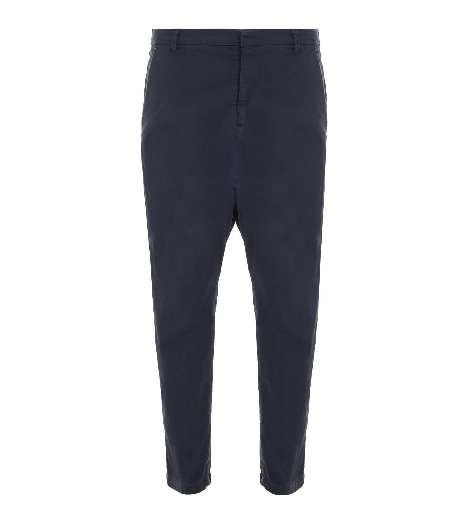 NILI LOTAN - Pantalon Paris Bleu Marine Délavé