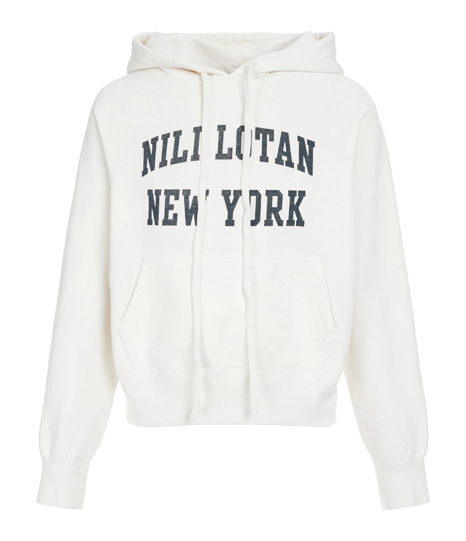 NILI LOTAN - Sweatshirt Nili Lotan New-York Imprimé Écru