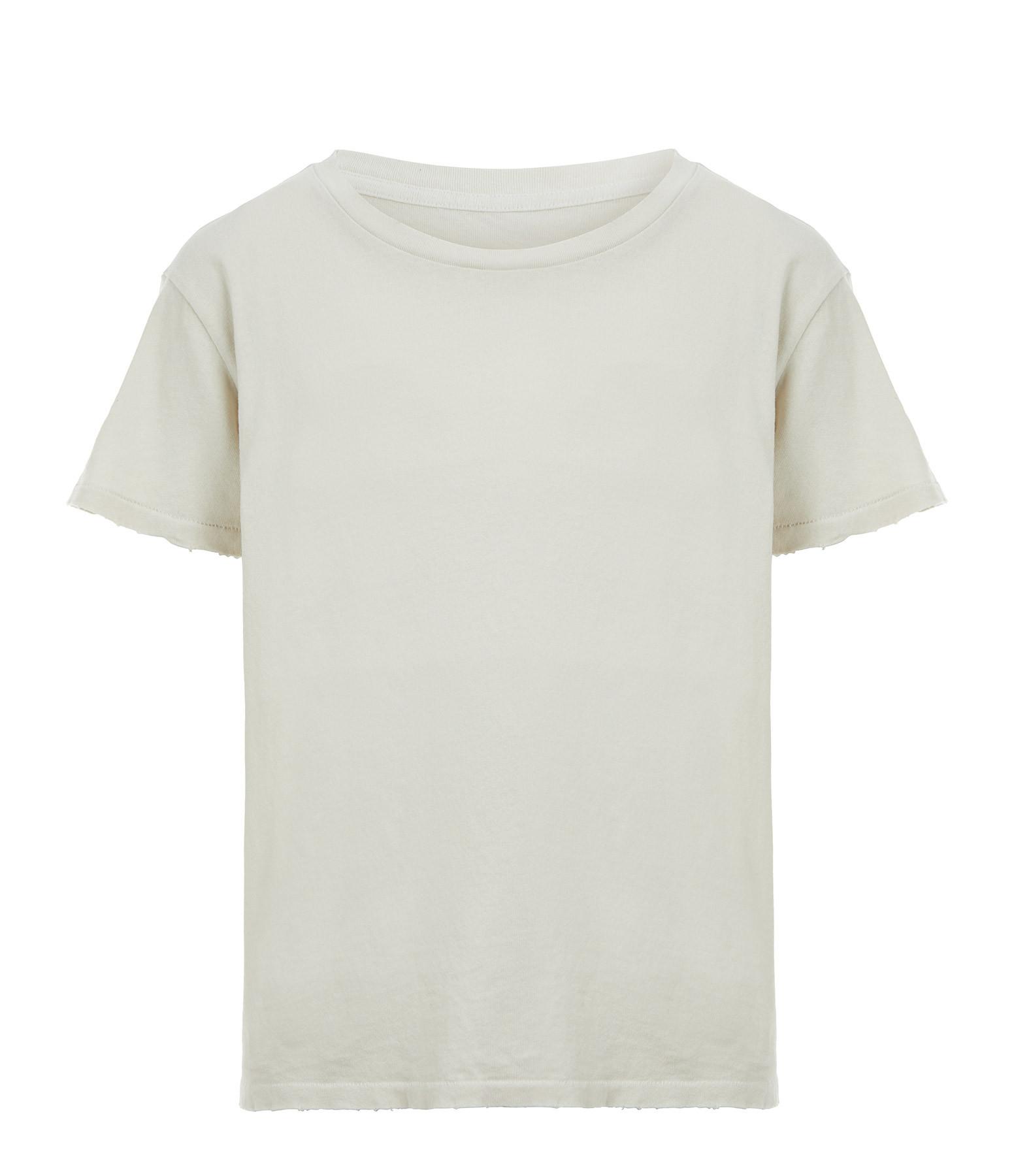 NILI LOTAN - Tee-shirt Brady Coton Craie