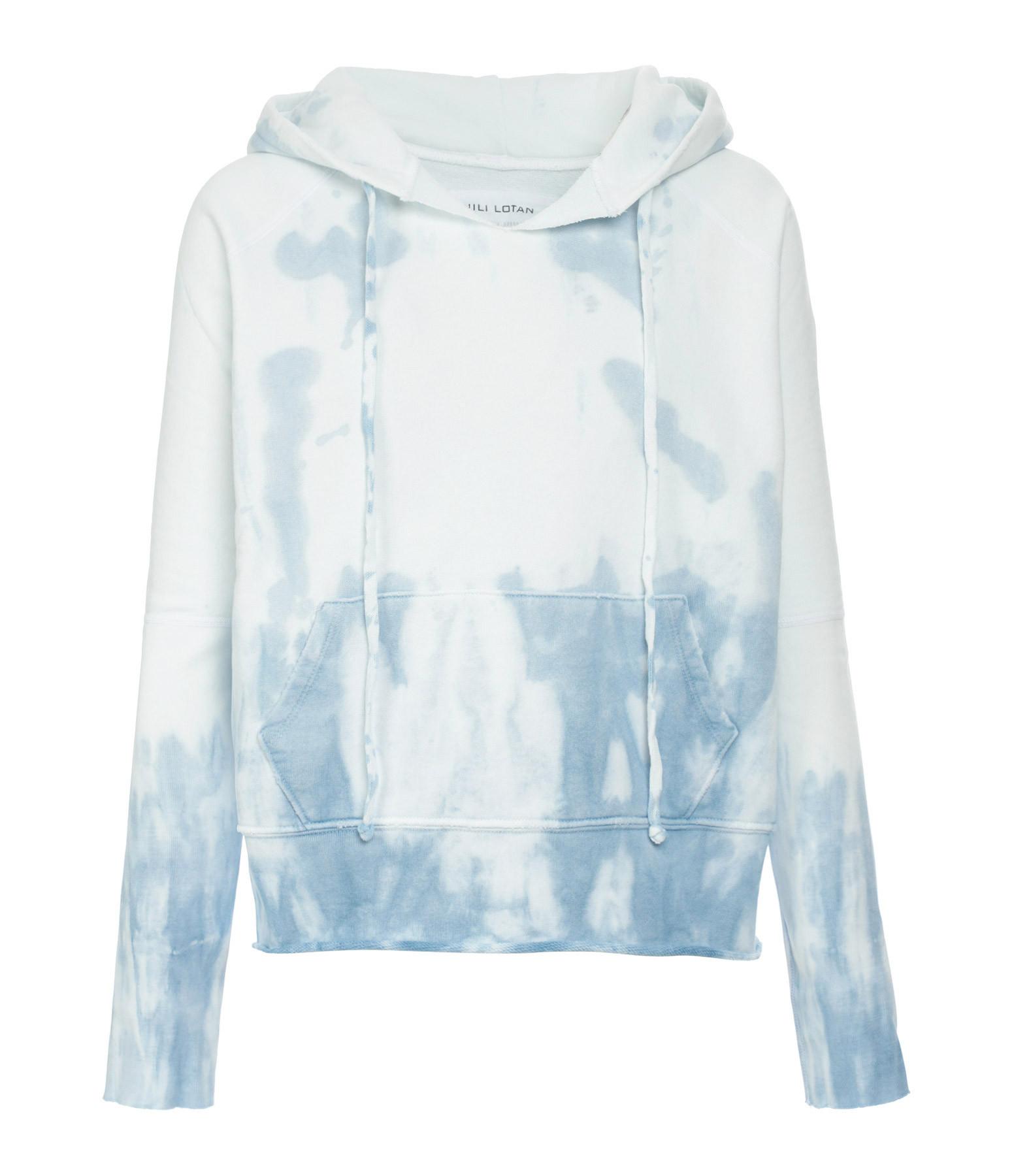 NILI LOTAN - Sweatshirt Janie Tie and Dye Bleu