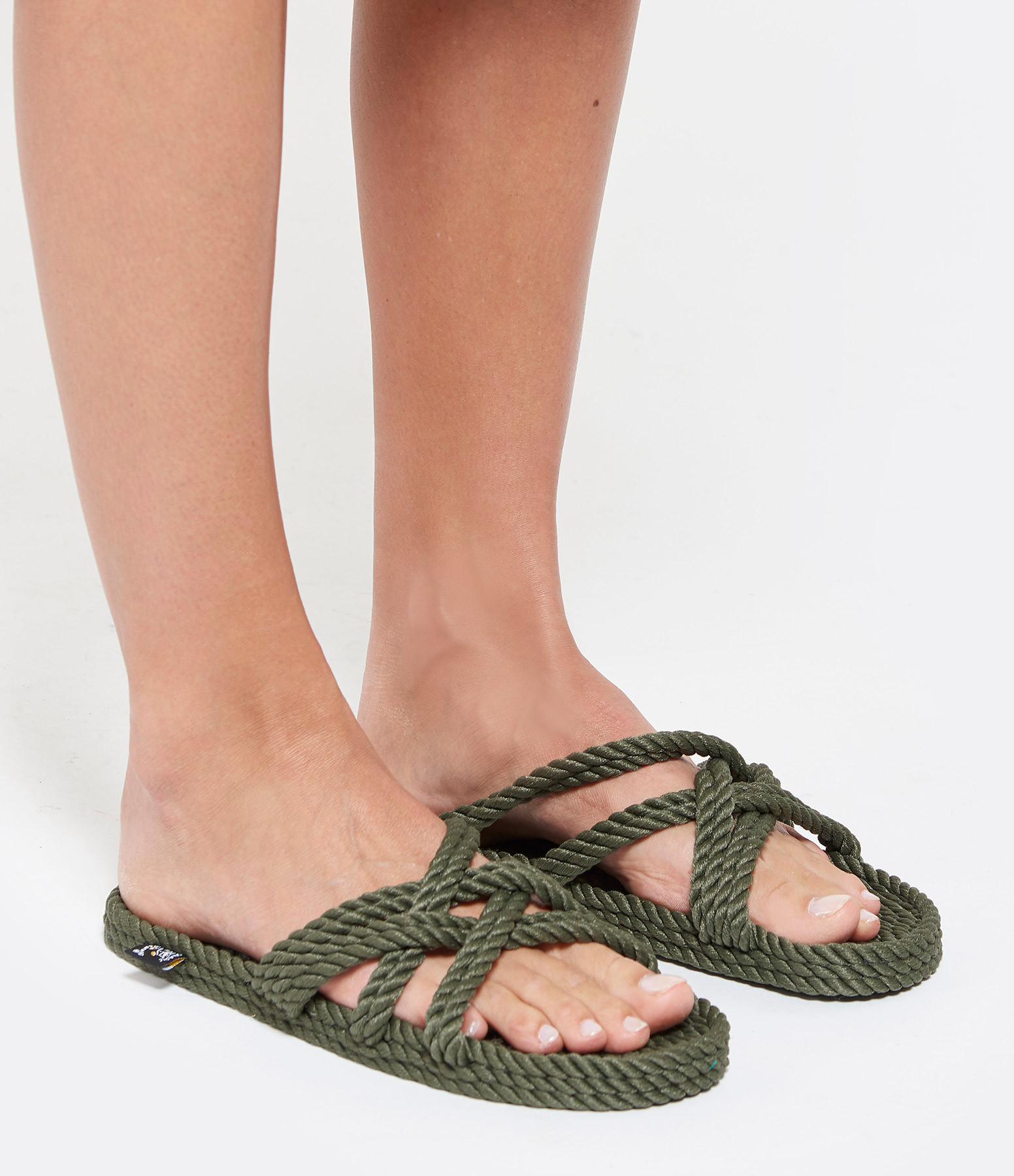 NOMADIC STATE OF MIND - Mules Vegan Slip On Corde Sage Green