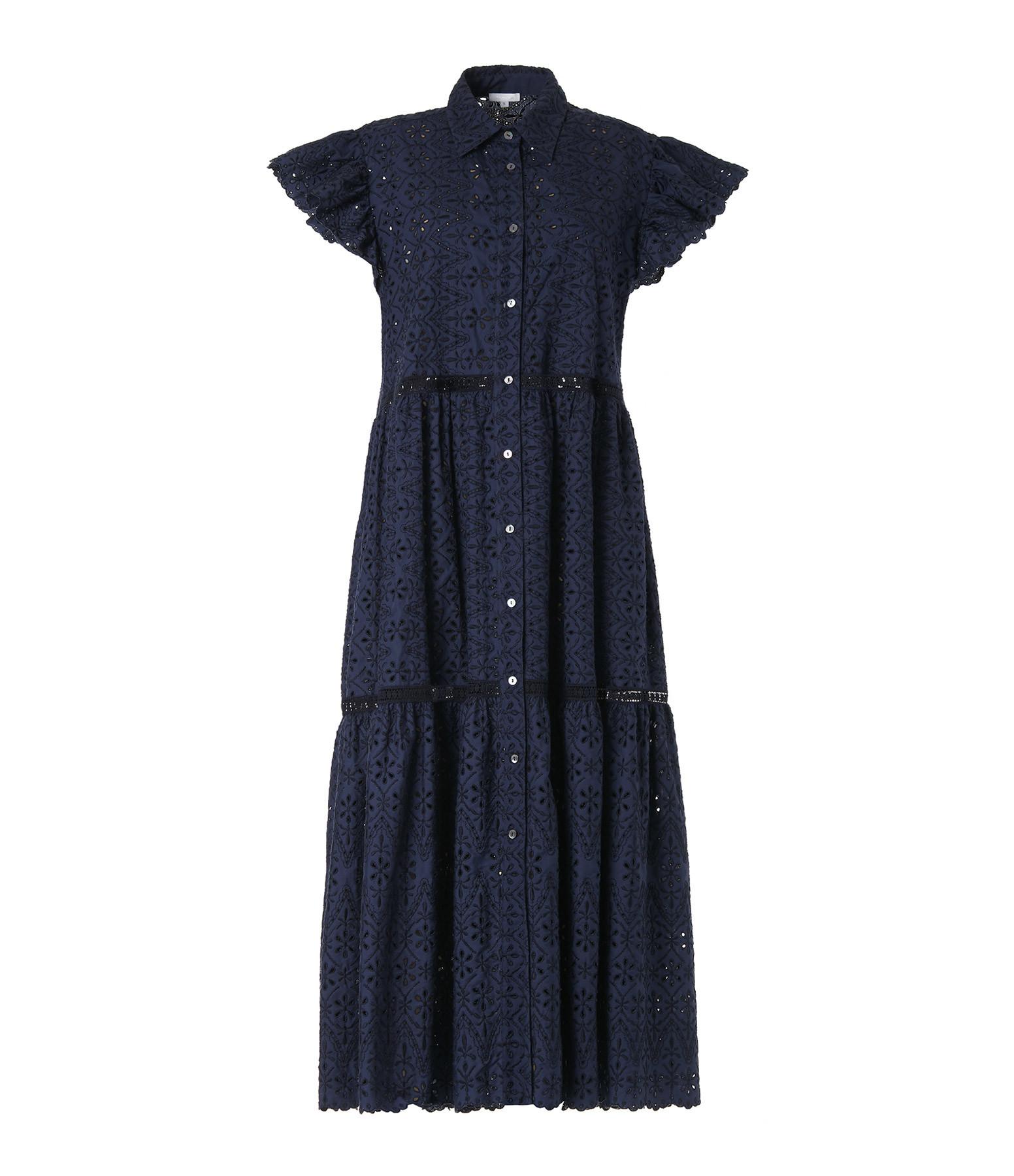 P.A.R.O.S.H. - Robe Curcuma Coton Bleu
