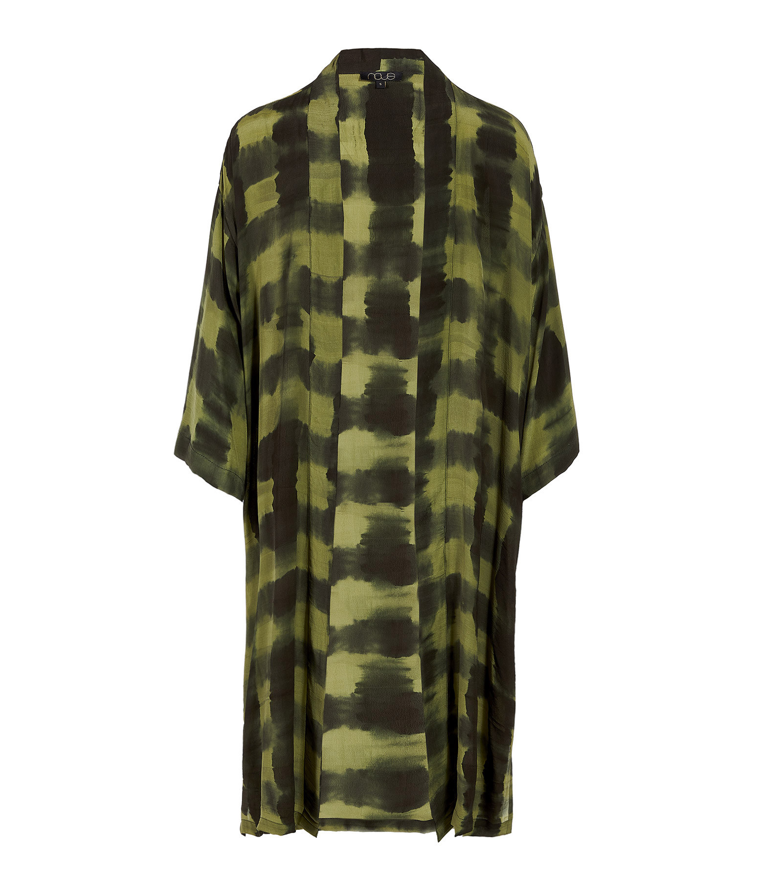 NOUS - Kimono Cléo Crèpe Kaki Gris