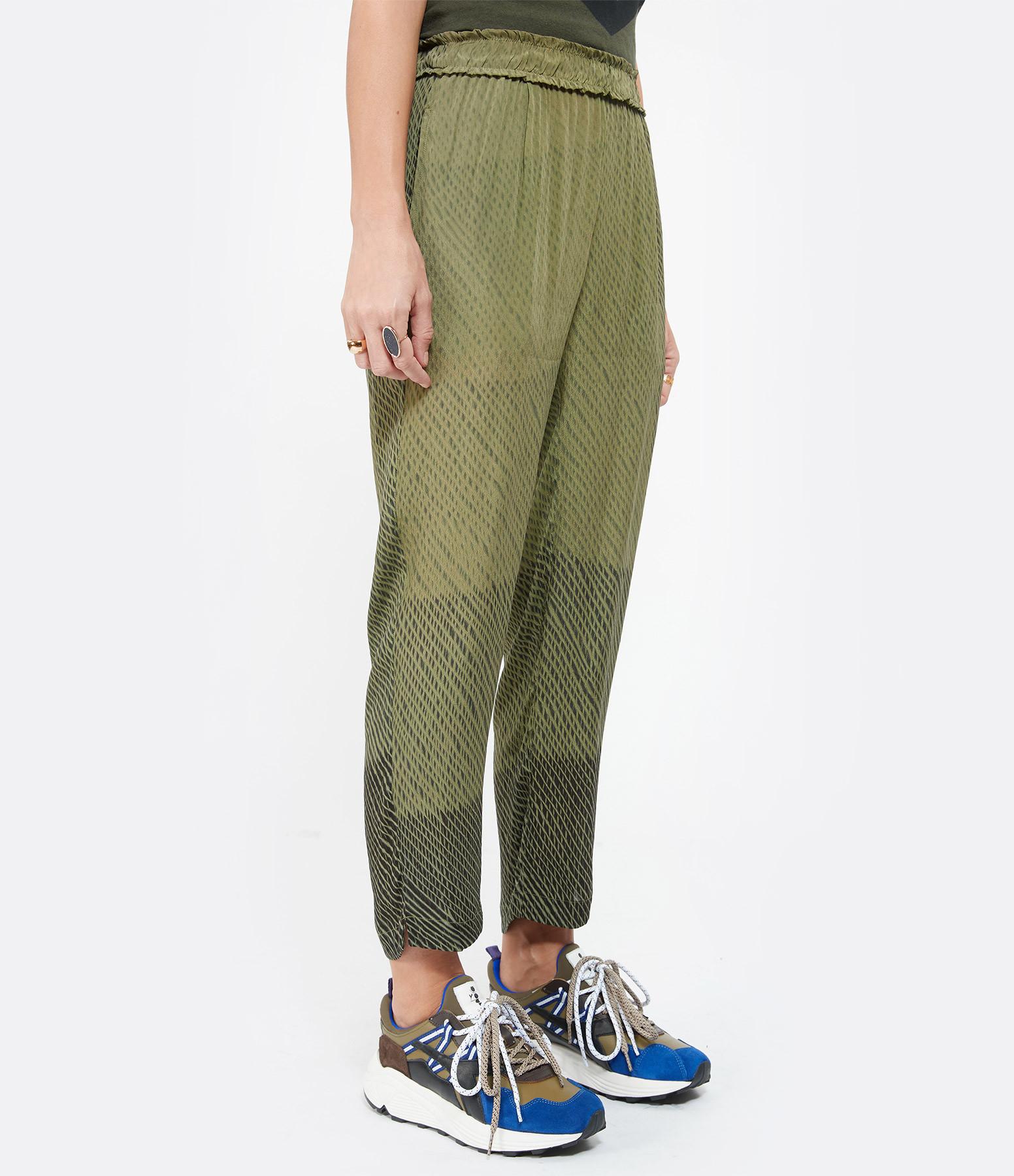 NOUS - Pantalon Mandy Crèpe Noir Kaki