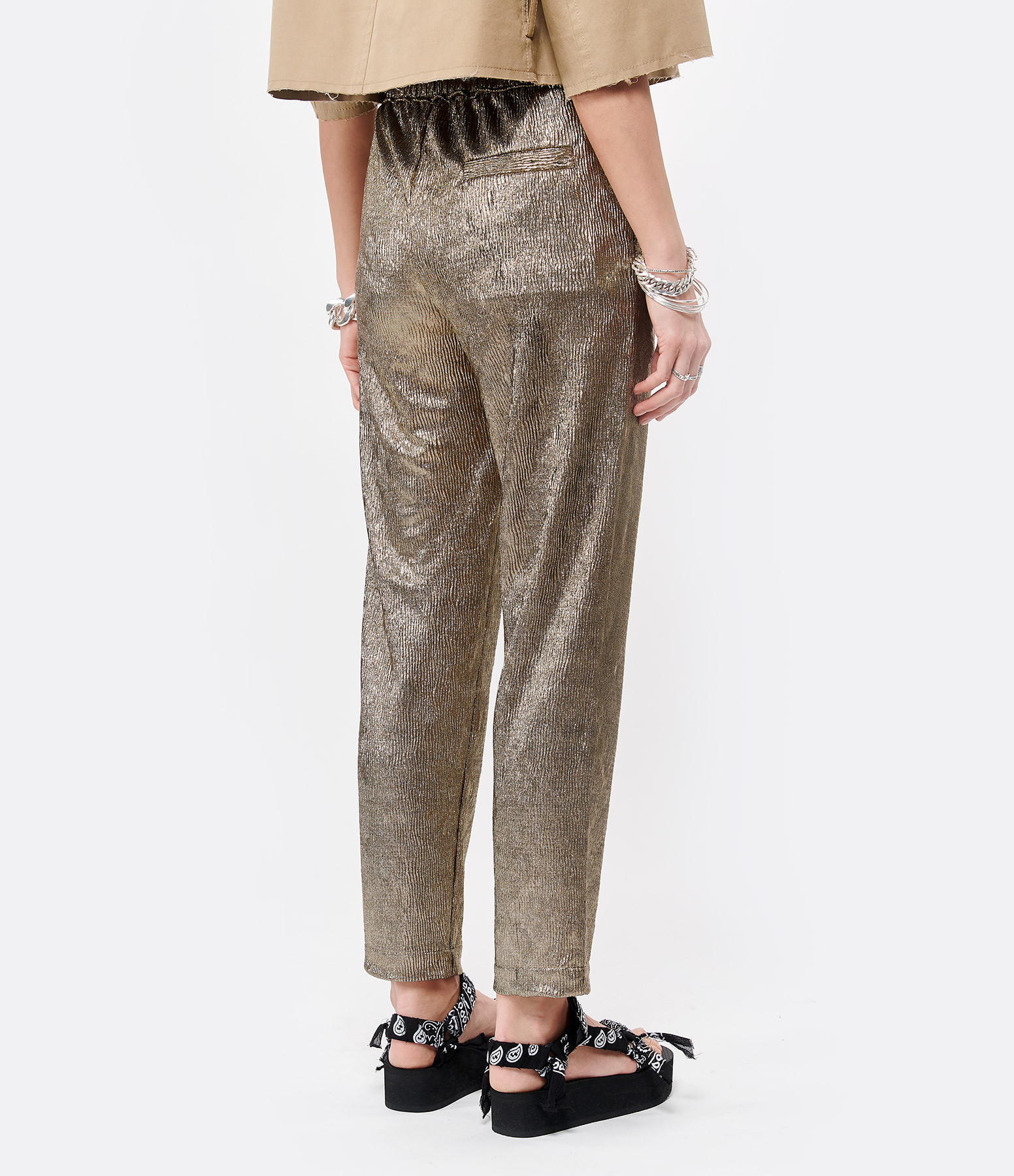 NOUS - Pantalon Mandy Doré
