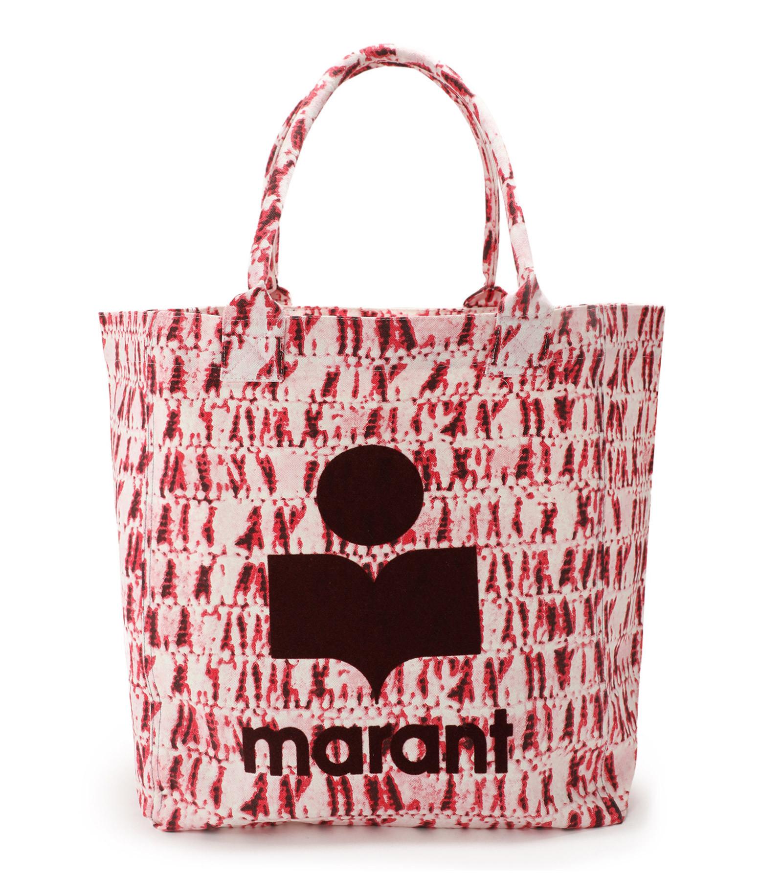 ISABEL MARANT - Sac Cabas Yenky Coton Imprimé Rouge