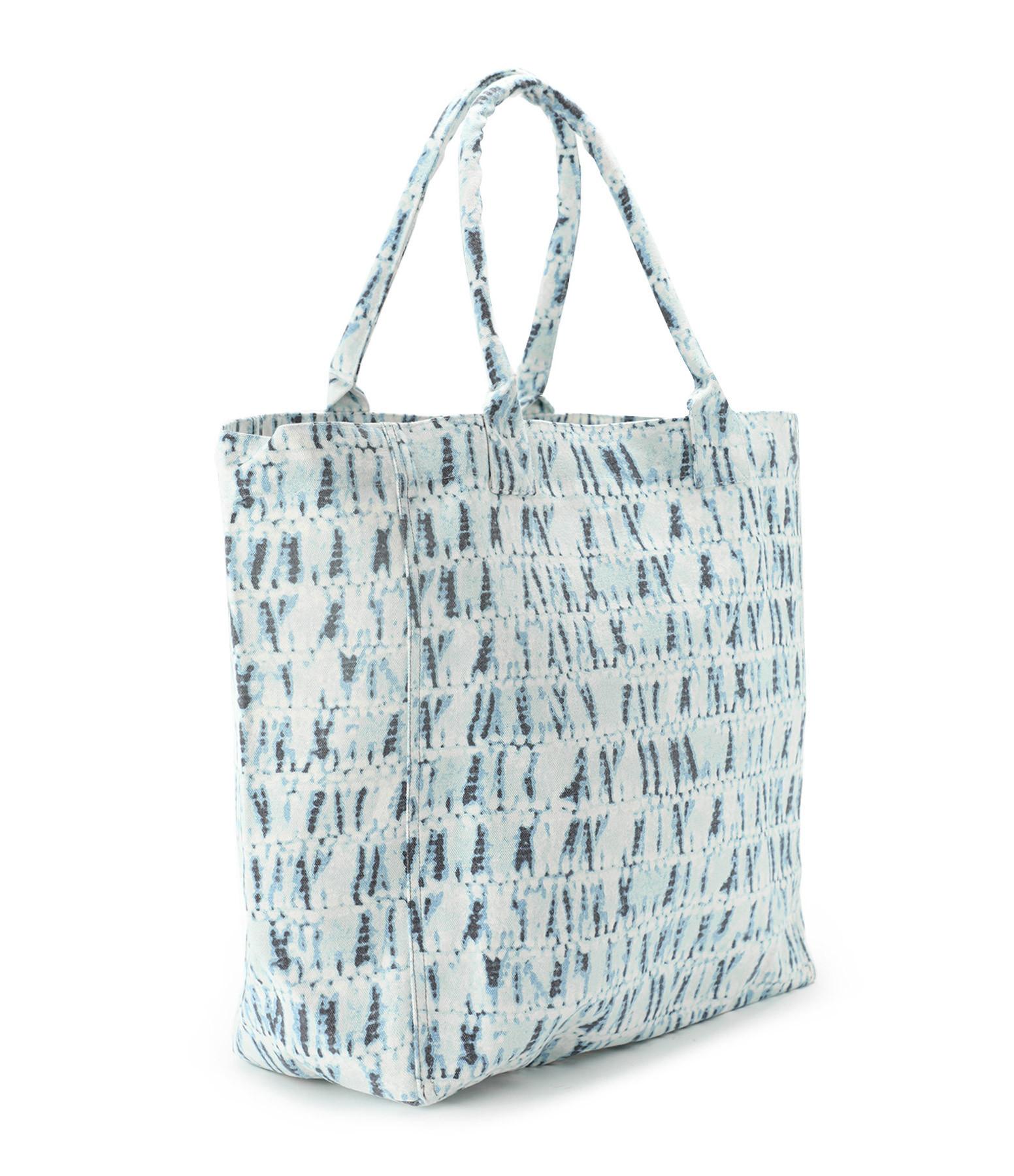 ISABEL MARANT - Sac Cabas Yenky Coton Imprimé Bleu