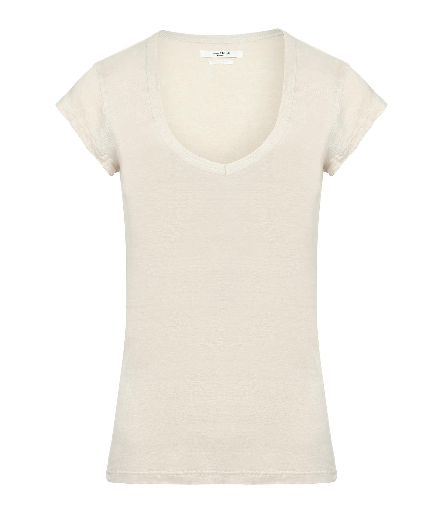 ISABEL MARANT ÉTOILE - Tee-shirt Zankou Lin Écru
