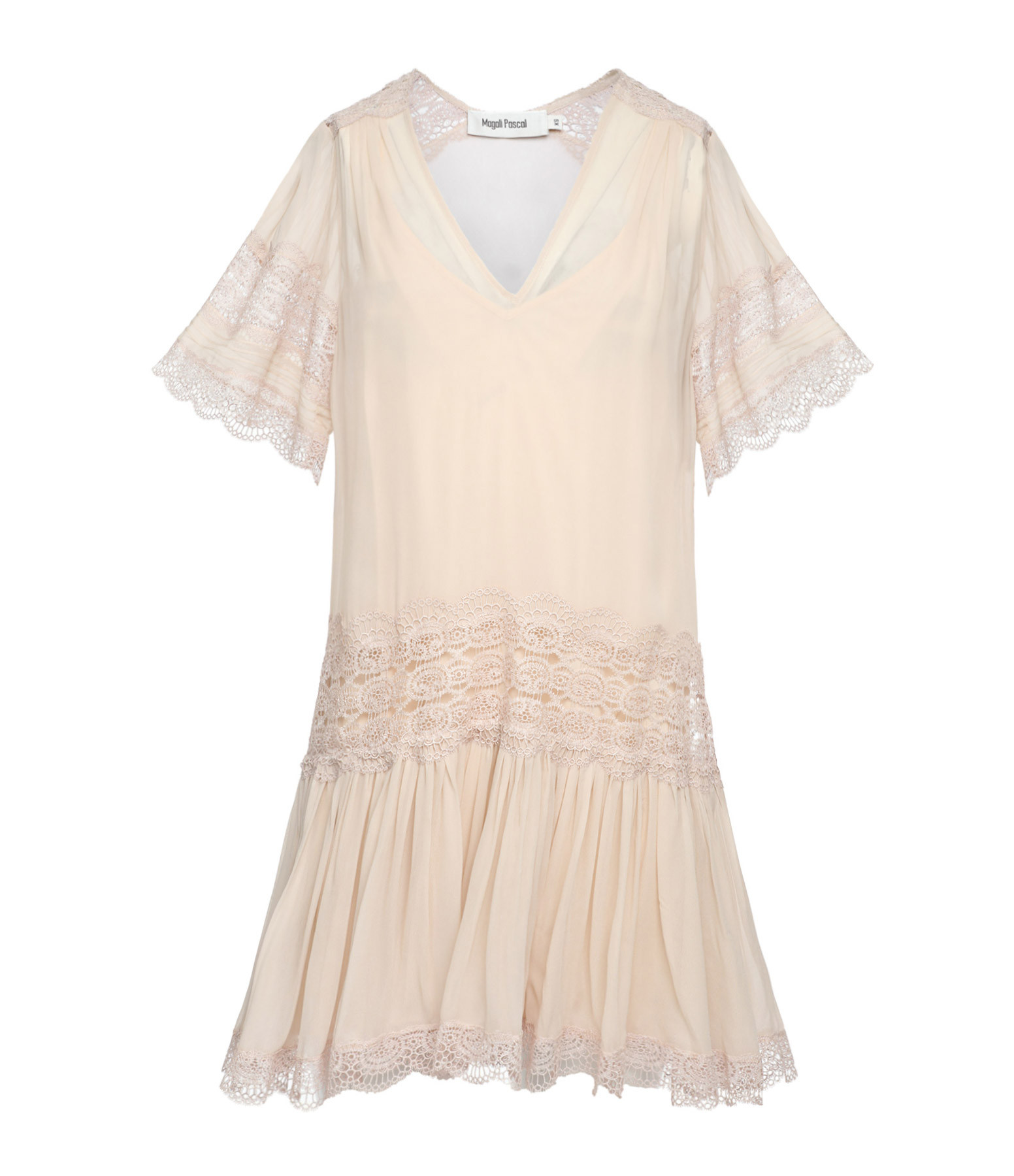 MAGALI PASCAL - Robe Garbo Rose Perle