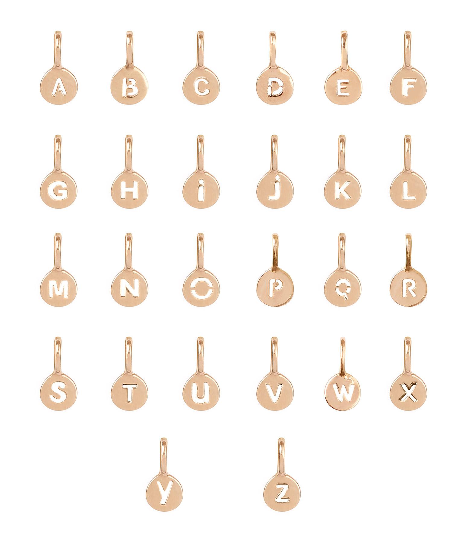 ORADENA - Bracelet Cordon 2 Médailles Or Coeur Lettre