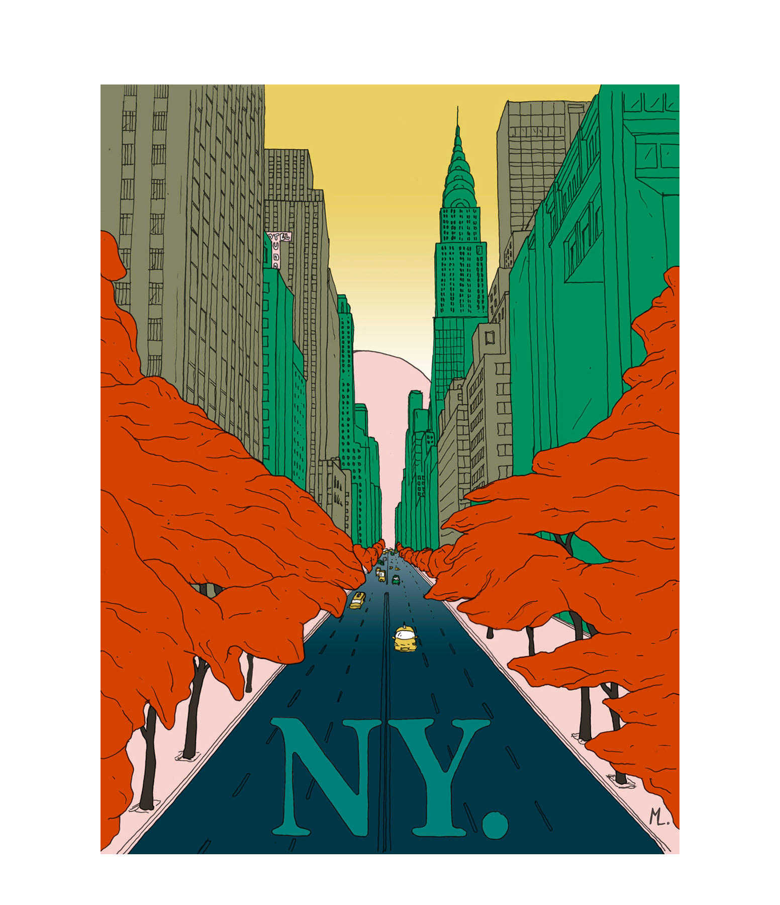 MAISON SARAH LAVOINE - Affiche New-York 50x70cm
