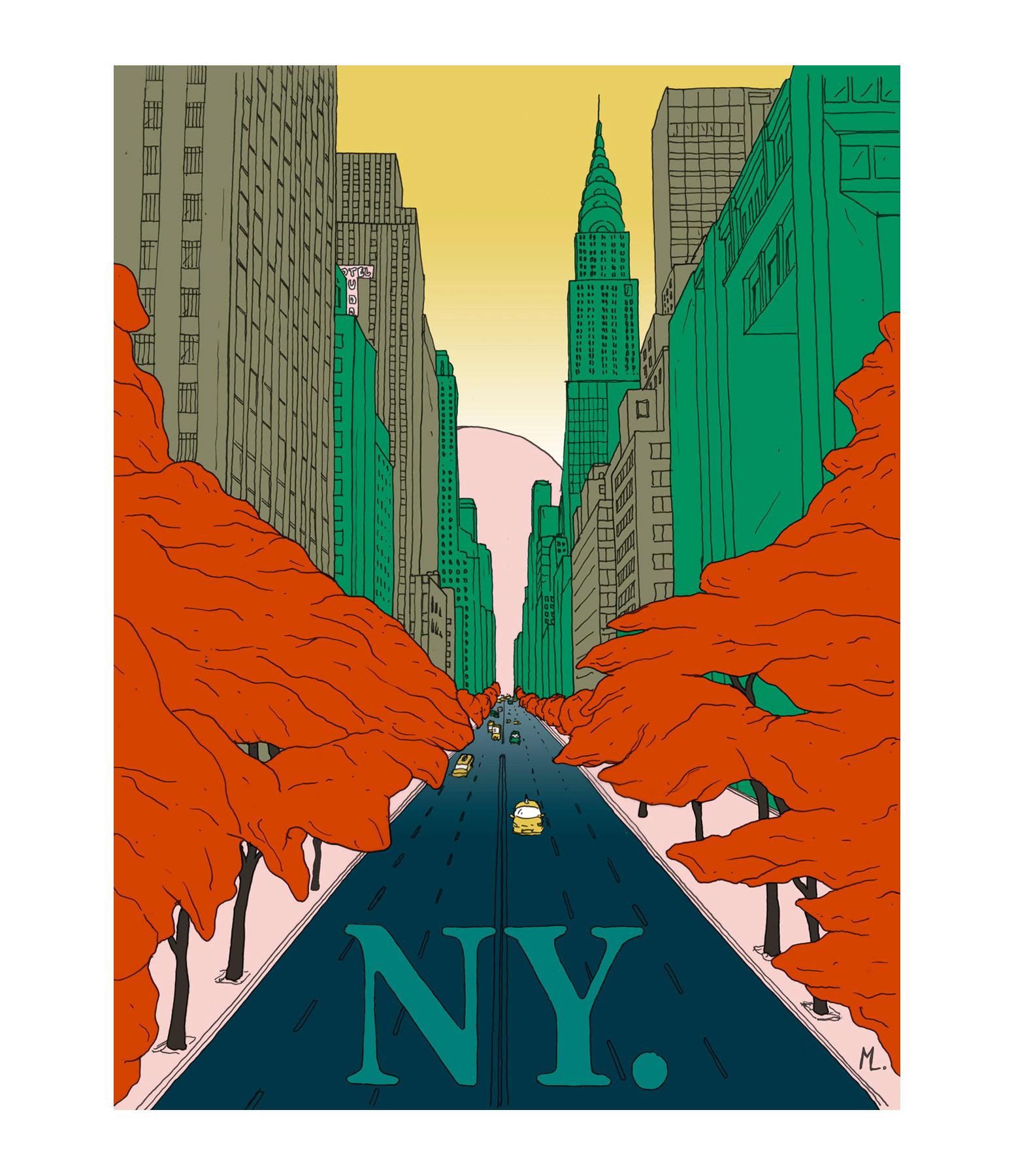 MAISON SARAH LAVOINE - Affiche New-York 56x76cm