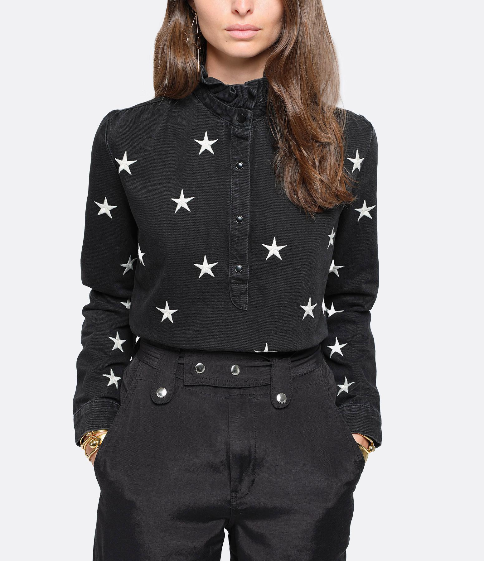 ONE TEASPOON - Chemise Ruffle Stars Noir
