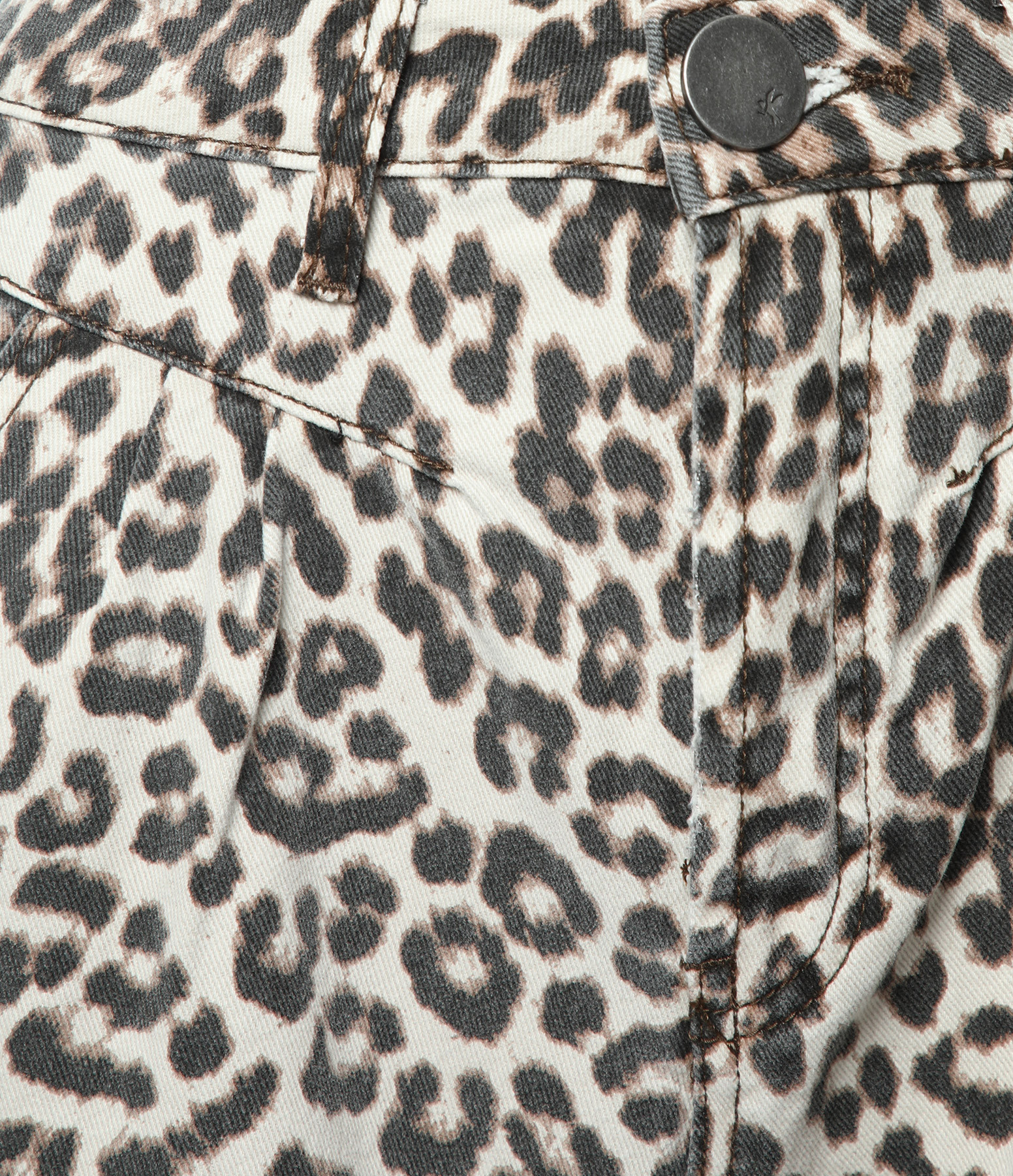 ONE TEASPOON - Jean Taille Haute Streetwalkers Coton Denim Animal