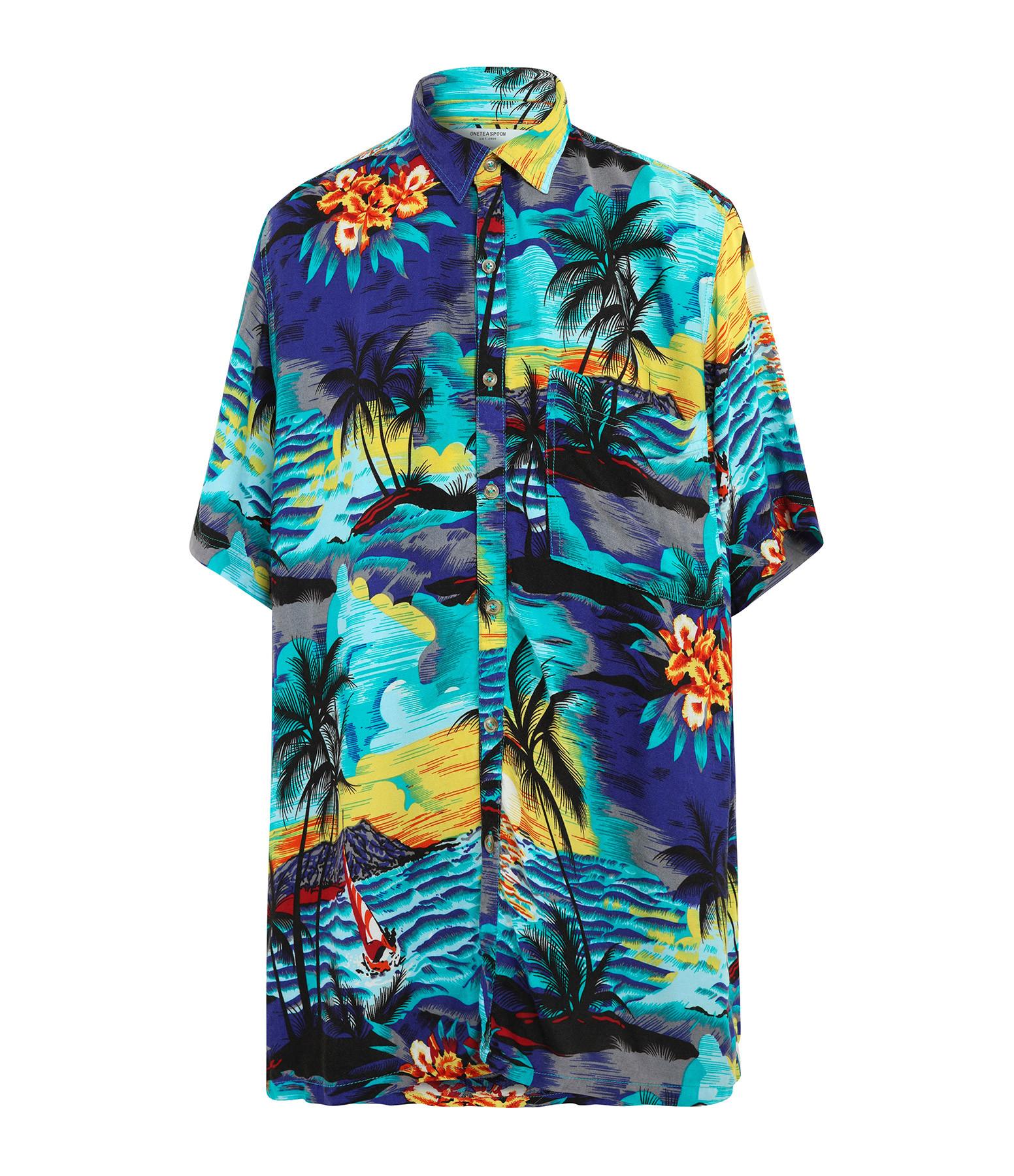 ONE TEASPOON - Chemise Hawaiian Bleu