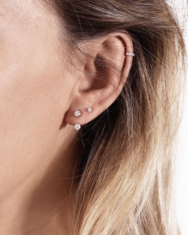 VANRYCKE - Boucle d'oreille One Or Blanc Diamant (vendue à l'unité)
