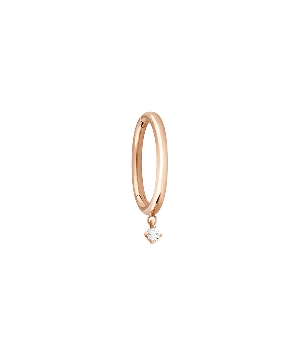 VANRYCKE - Créole Stardust M Or Rose Diamant (vendue à l'unité)