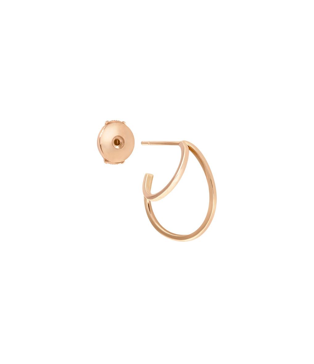 VANRYCKE - Créole Styloïde Mini Or Rose Oreille Droite (vendue à l'unité)
