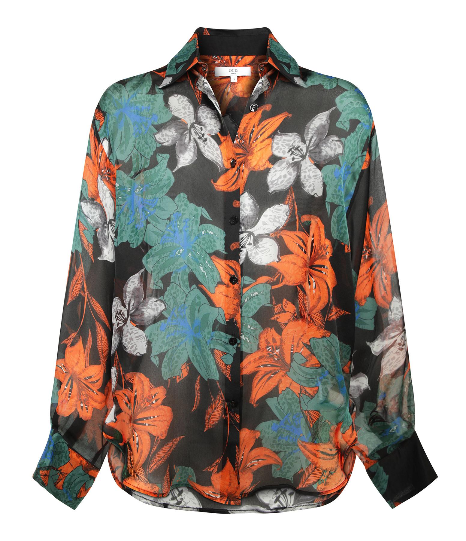 OUD - Top Elda Soie Imprimé Floral