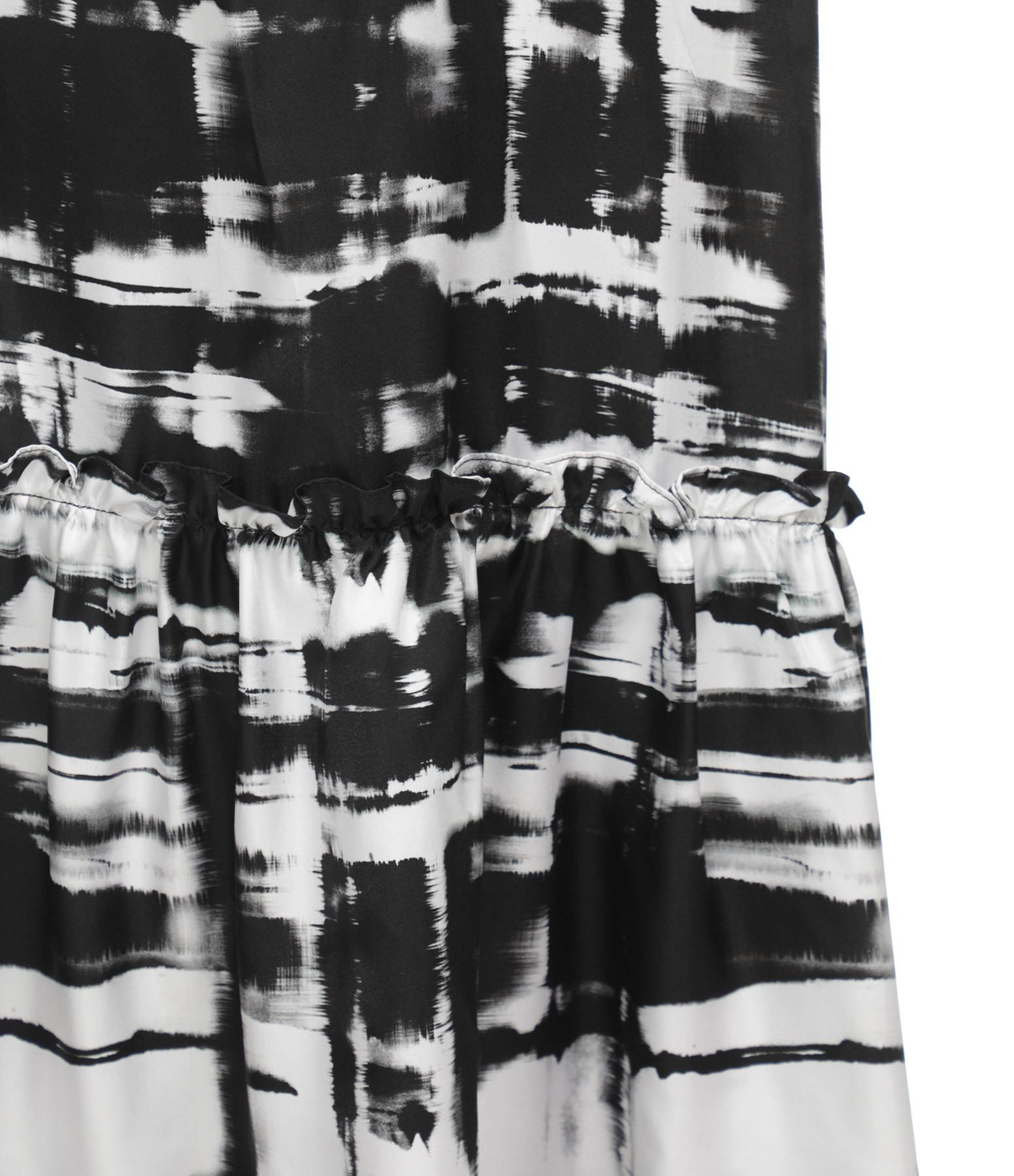 OUD - Robe Isabella Soie Noir Blanc