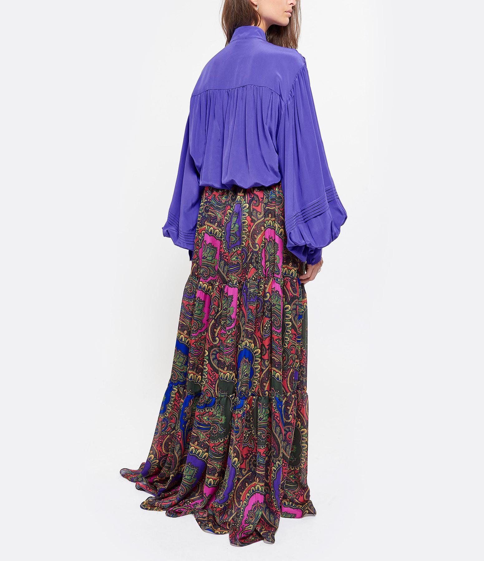 OUD - Jupe Liana Mousseline Soie Multicolore