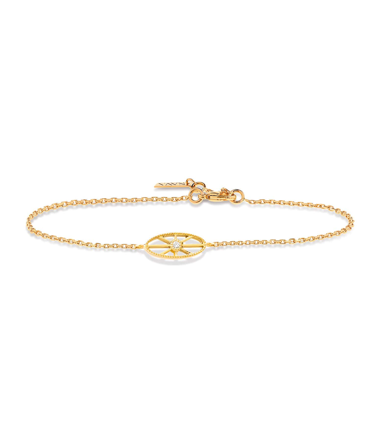 NAVA JOAILLERIE - Bracelet Cheyenne Ovale Or Jaune