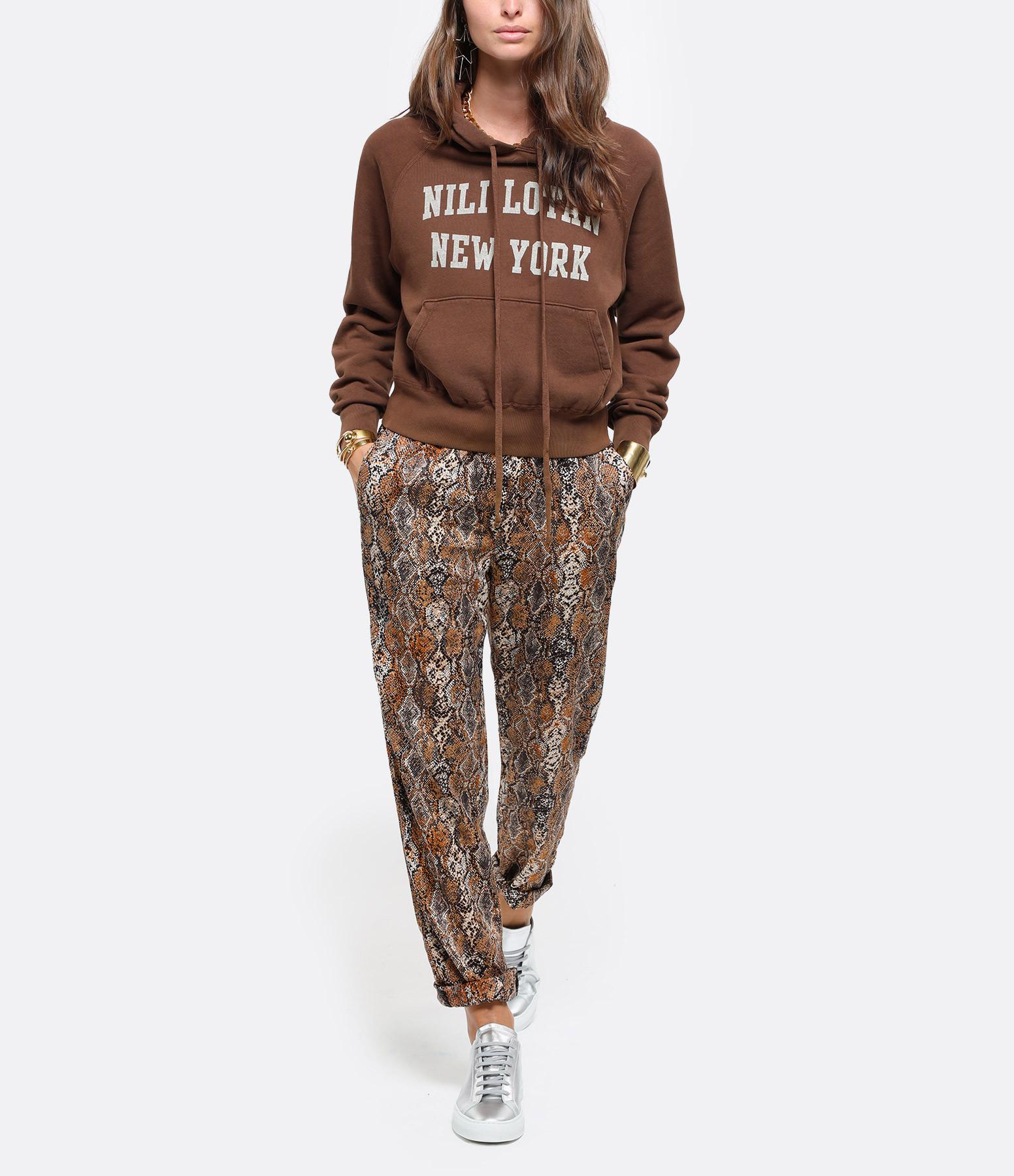 OVERLOVER - Pantalon Yucca Coton Ambre
