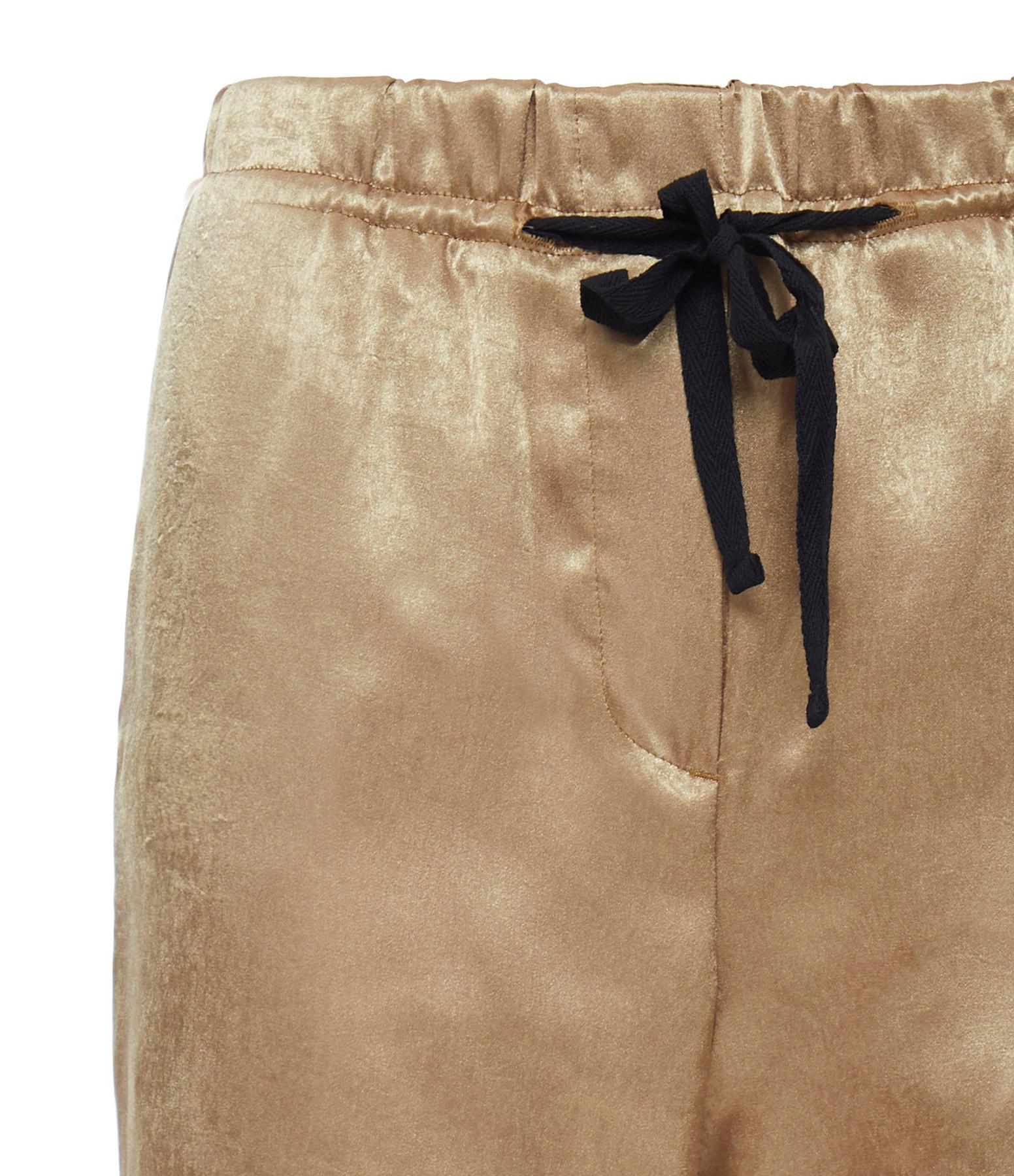 OVERLOVER - Pantalon Yucca Satin Doré