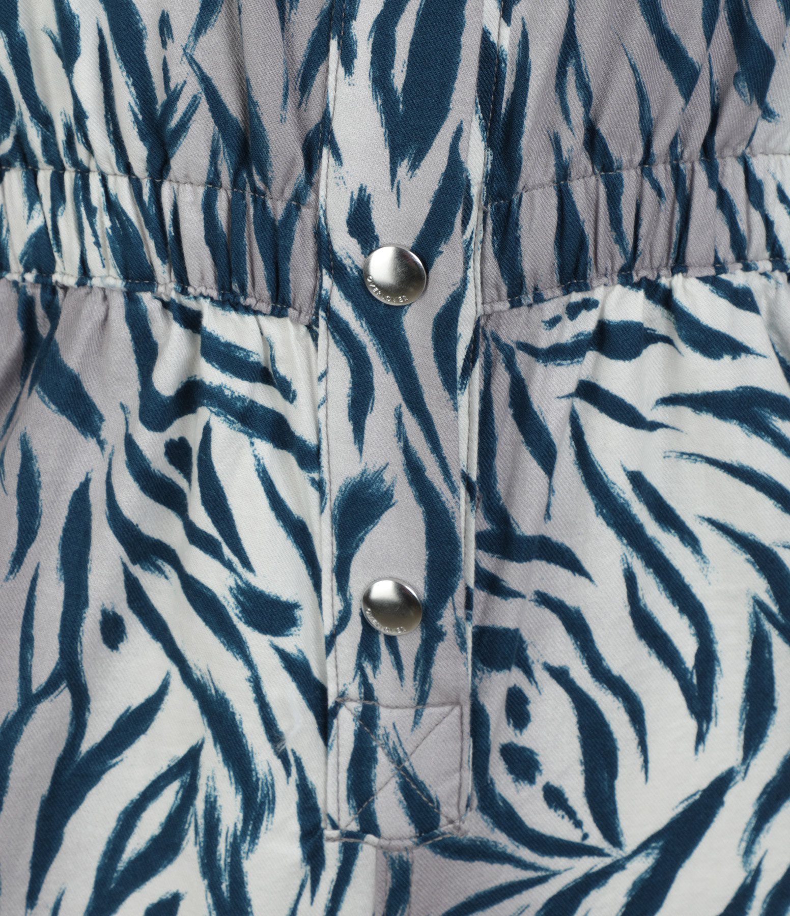 OVERLOVER - Combinaison Hope Coton Zebra Blue Imprimé