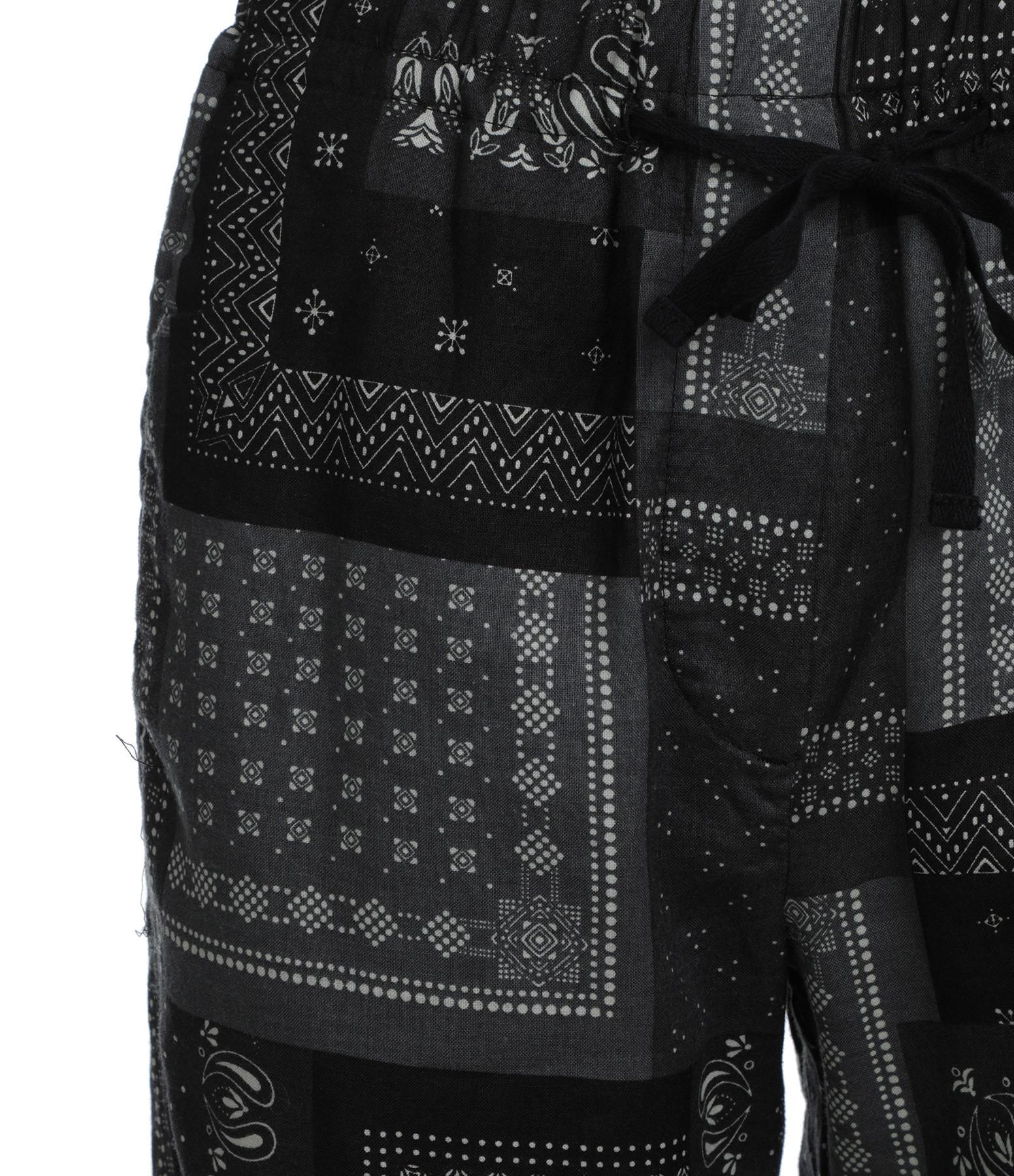 OVERLOVER - Pantalon Yucca Ramie Bandana Grey Imprimé