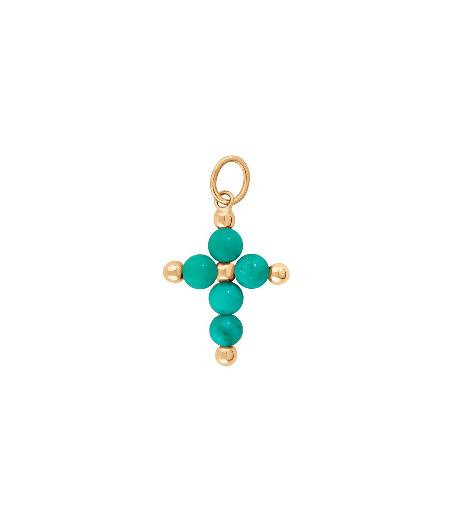 CHARLET - Pendentif Croix Origines Colors Magnésite Or Jaune