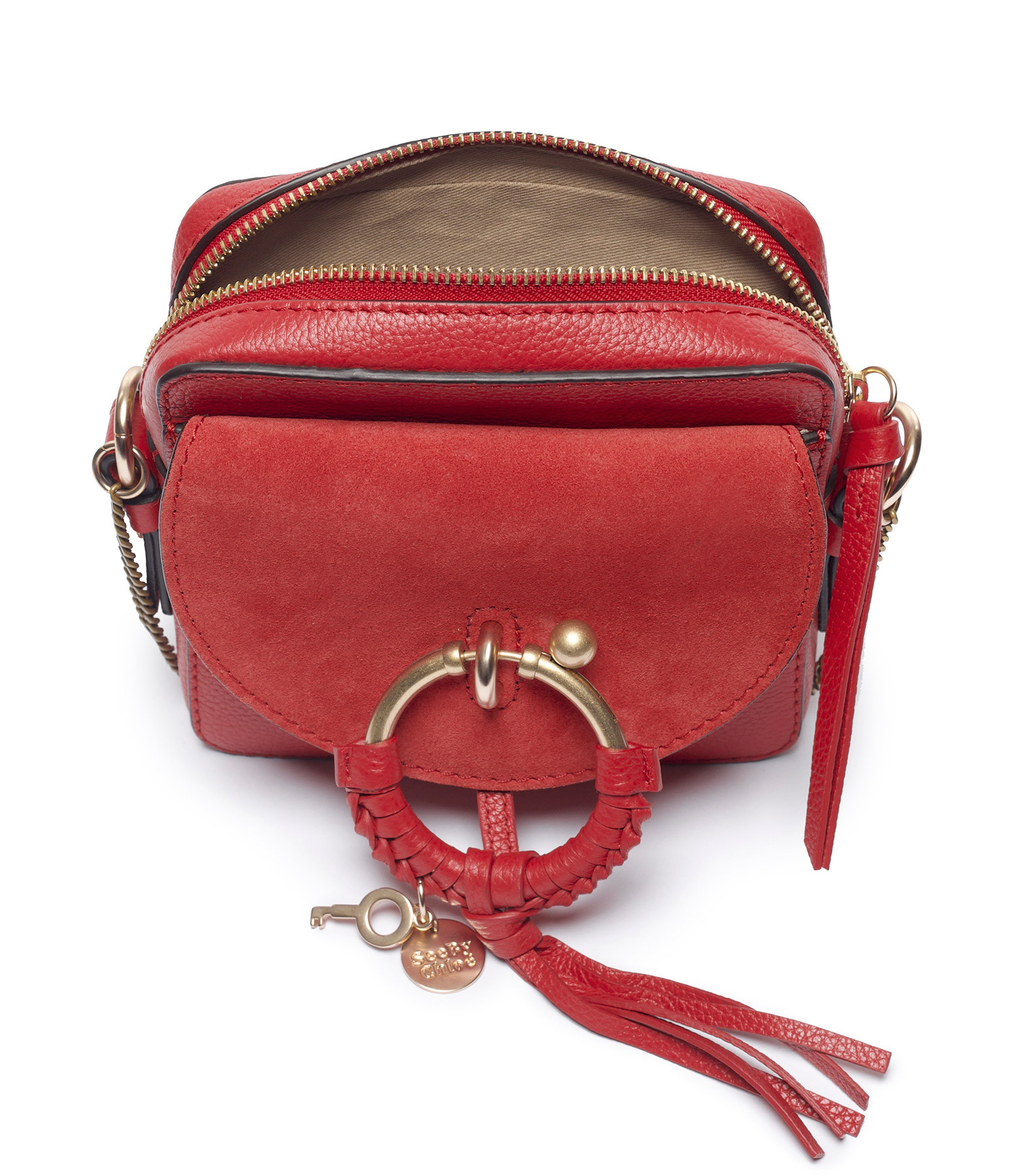 SEE BY CHLOE - Sac Caméra Joan Cuir Red Flame
