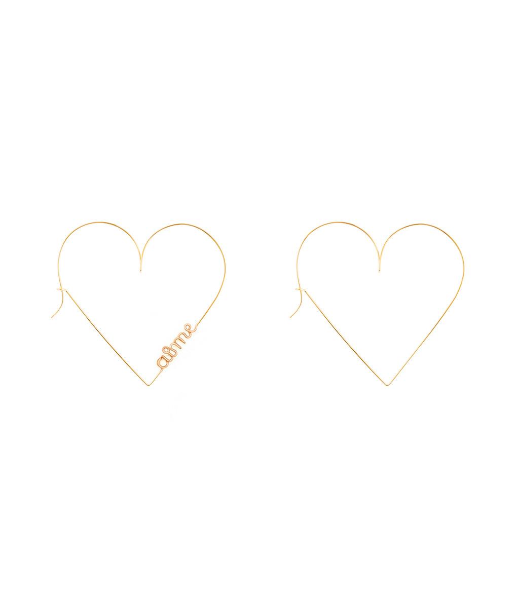 ATELIER PAULIN - Créoles Mini Coeur Aime Gold Filled 14K